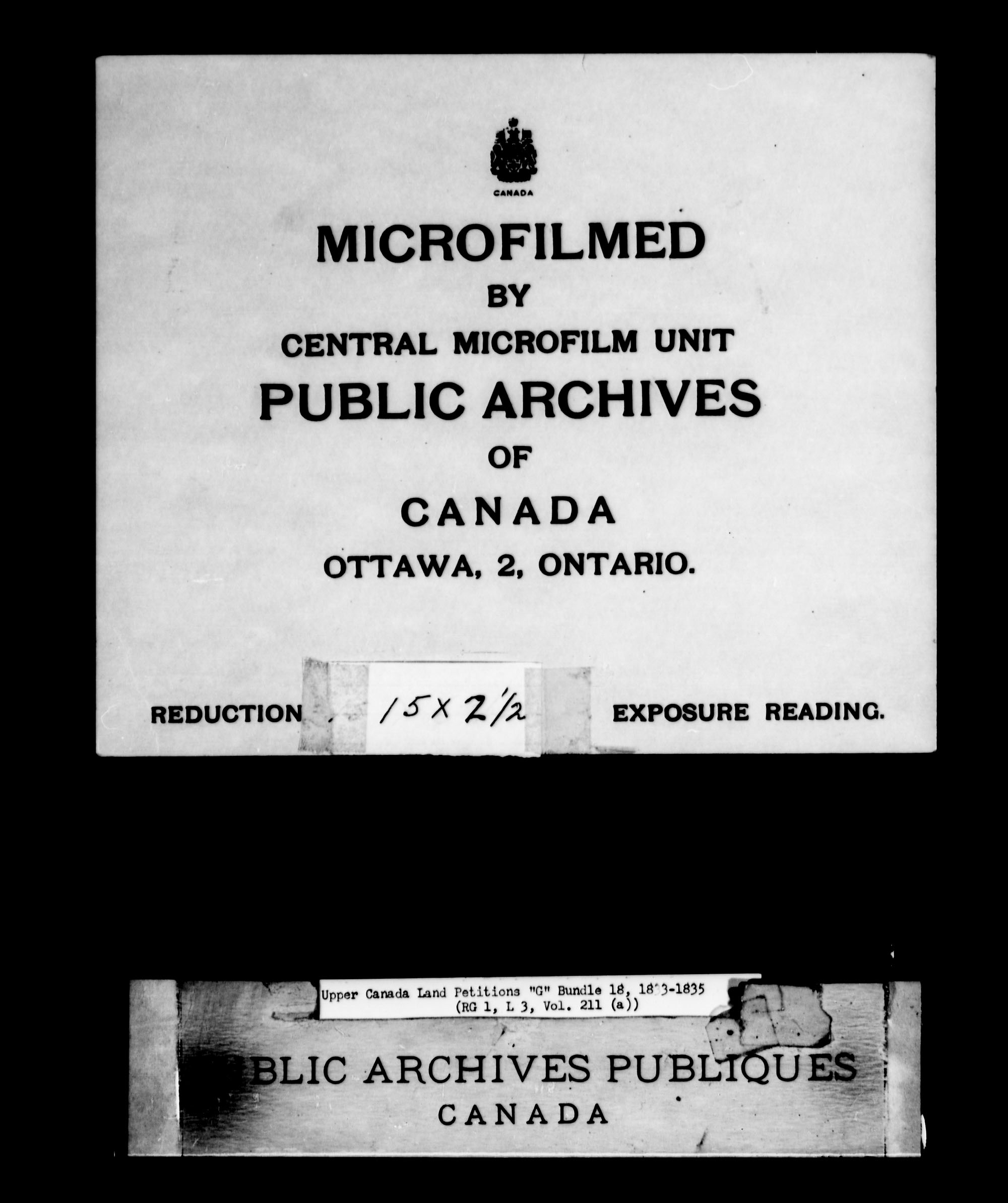 Title: Upper Canada Land Petitions (1763-1865) - Mikan Number: 205131 - Microform: c-2035