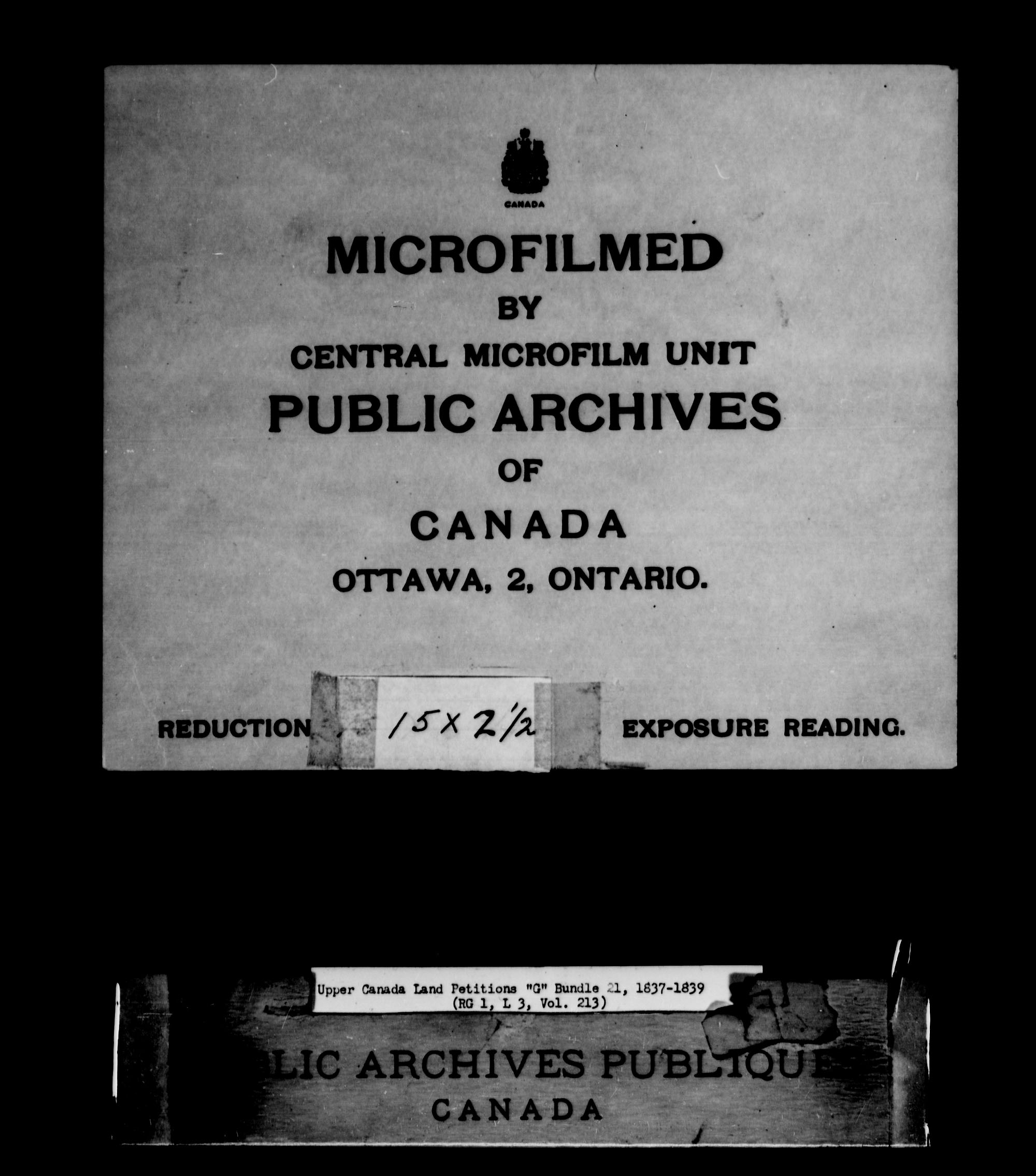 Title: Upper Canada Land Petitions (1763-1865) - Mikan Number: 205131 - Microform: c-2036
