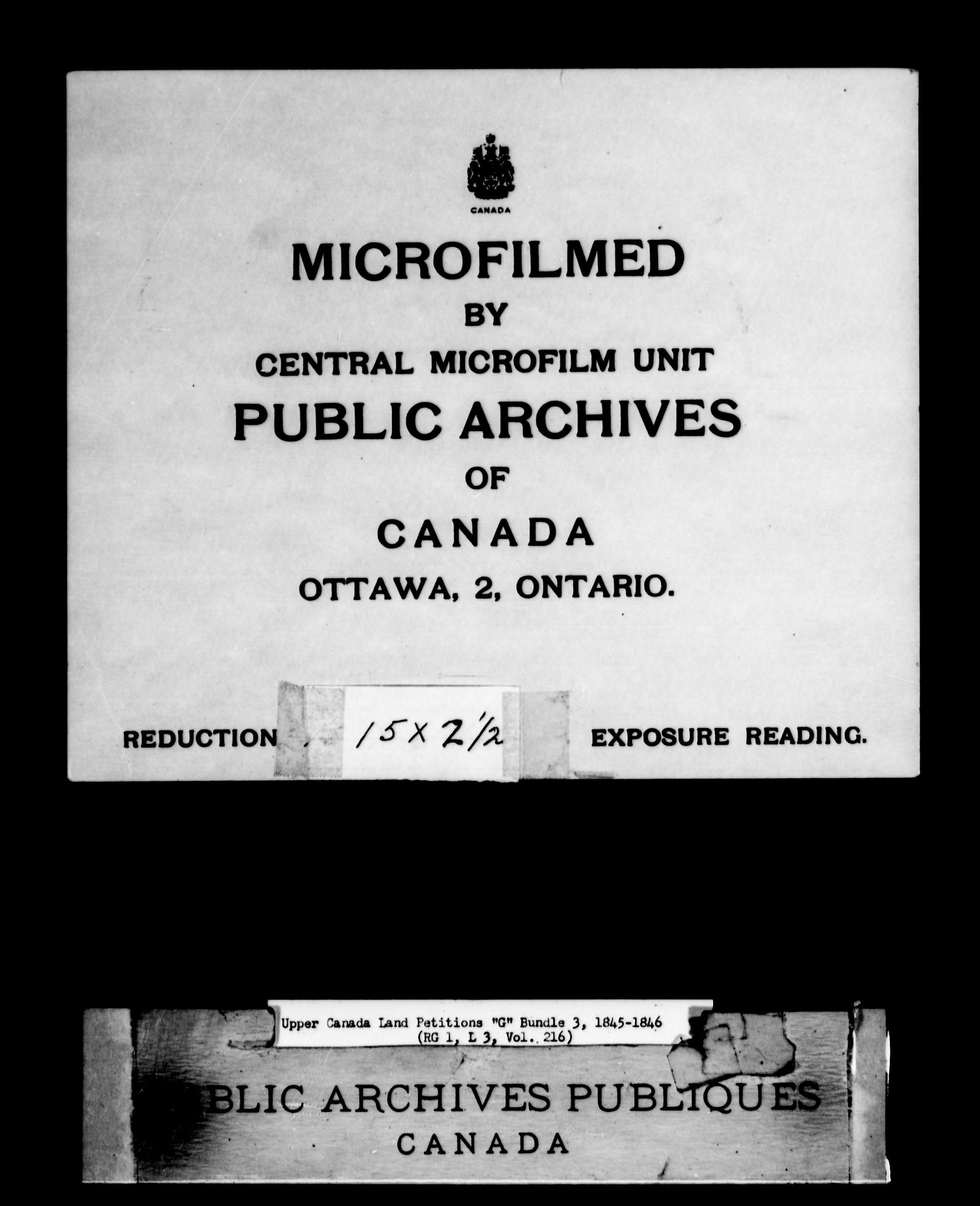 Title: Upper Canada Land Petitions (1763-1865) - Mikan Number: 205131 - Microform: c-2038