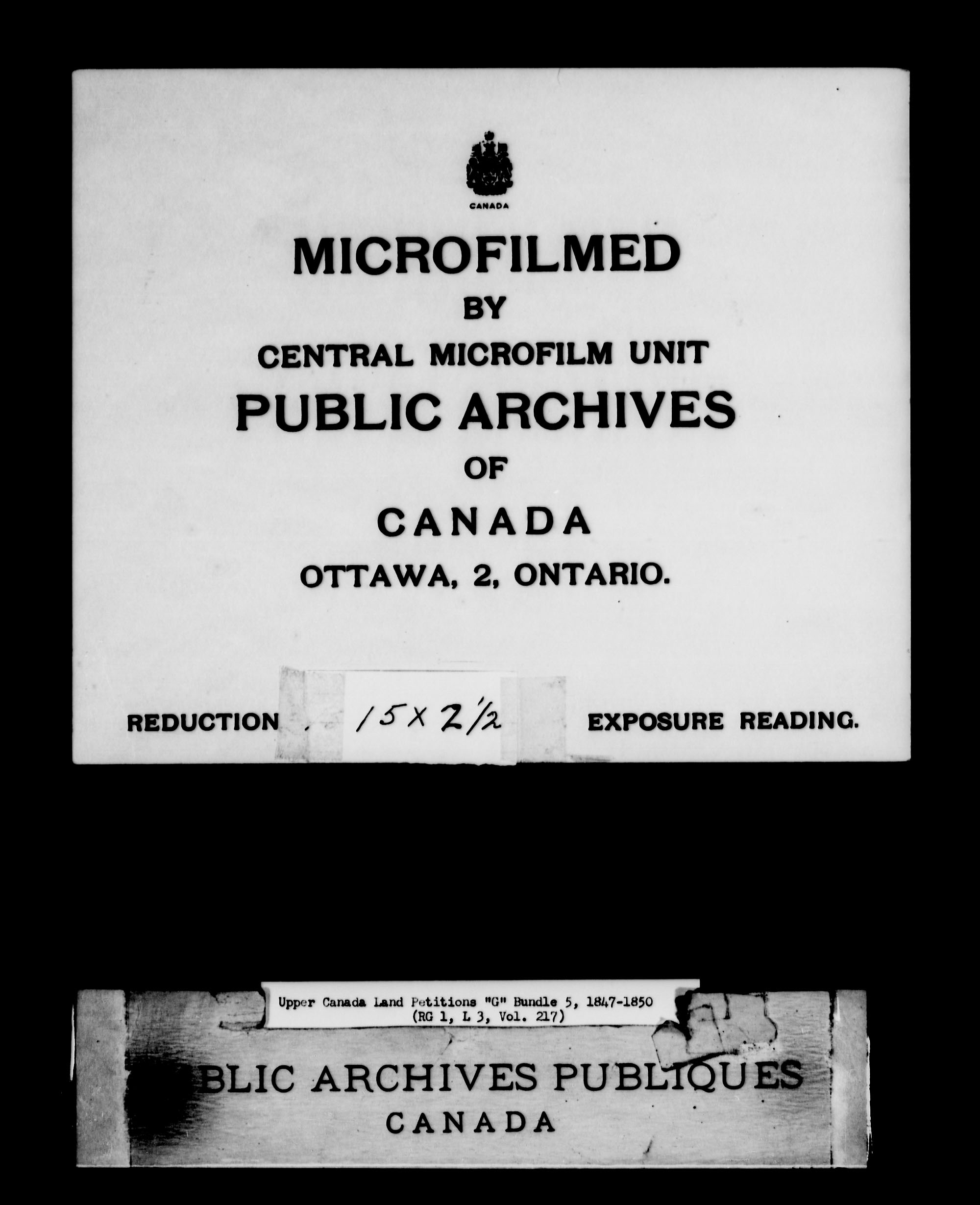 Title: Upper Canada Land Petitions (1763-1865) - Mikan Number: 205131 - Microform: c-2039