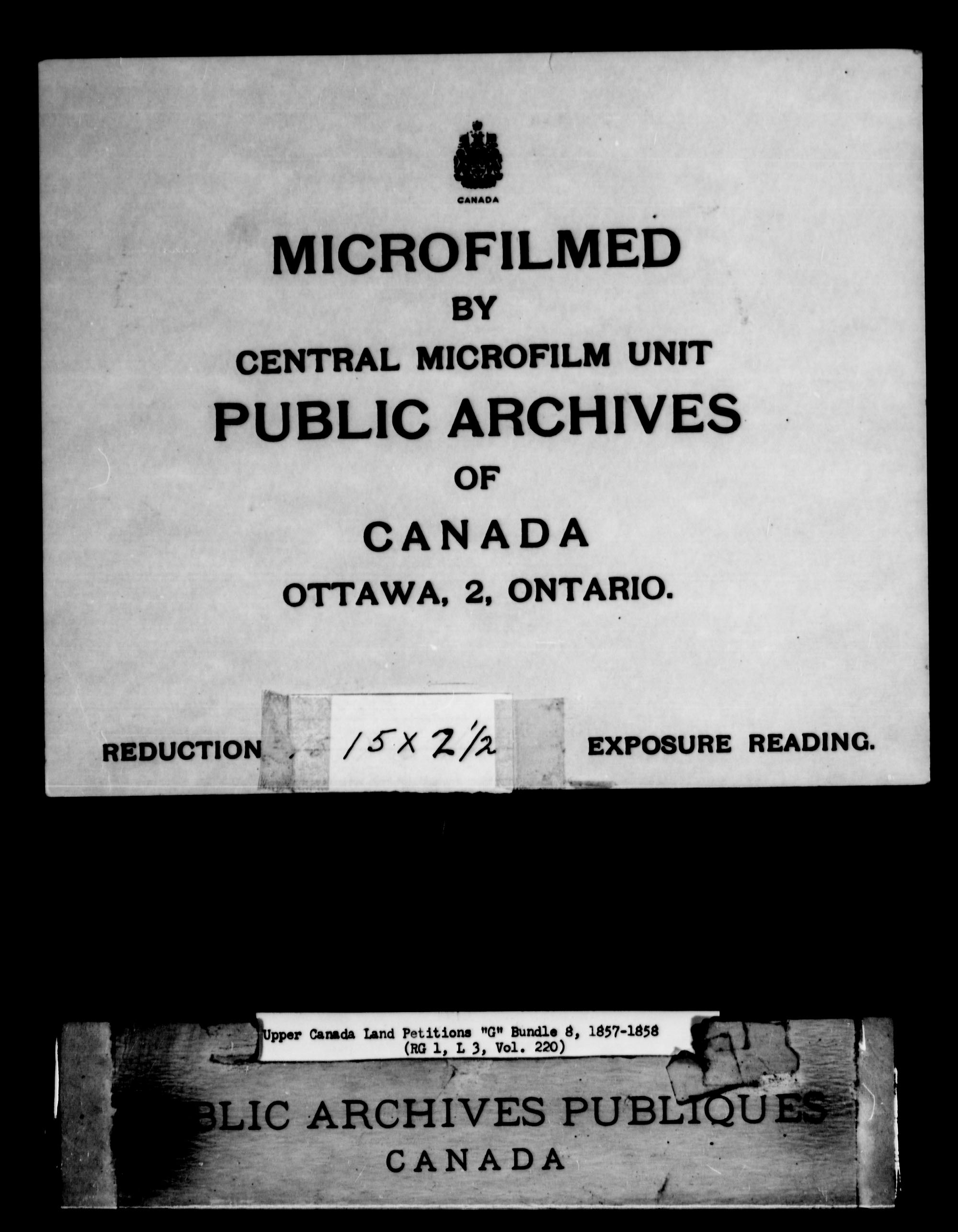 Title: Upper Canada Land Petitions (1763-1865) - Mikan Number: 205131 - Microform: c-2041