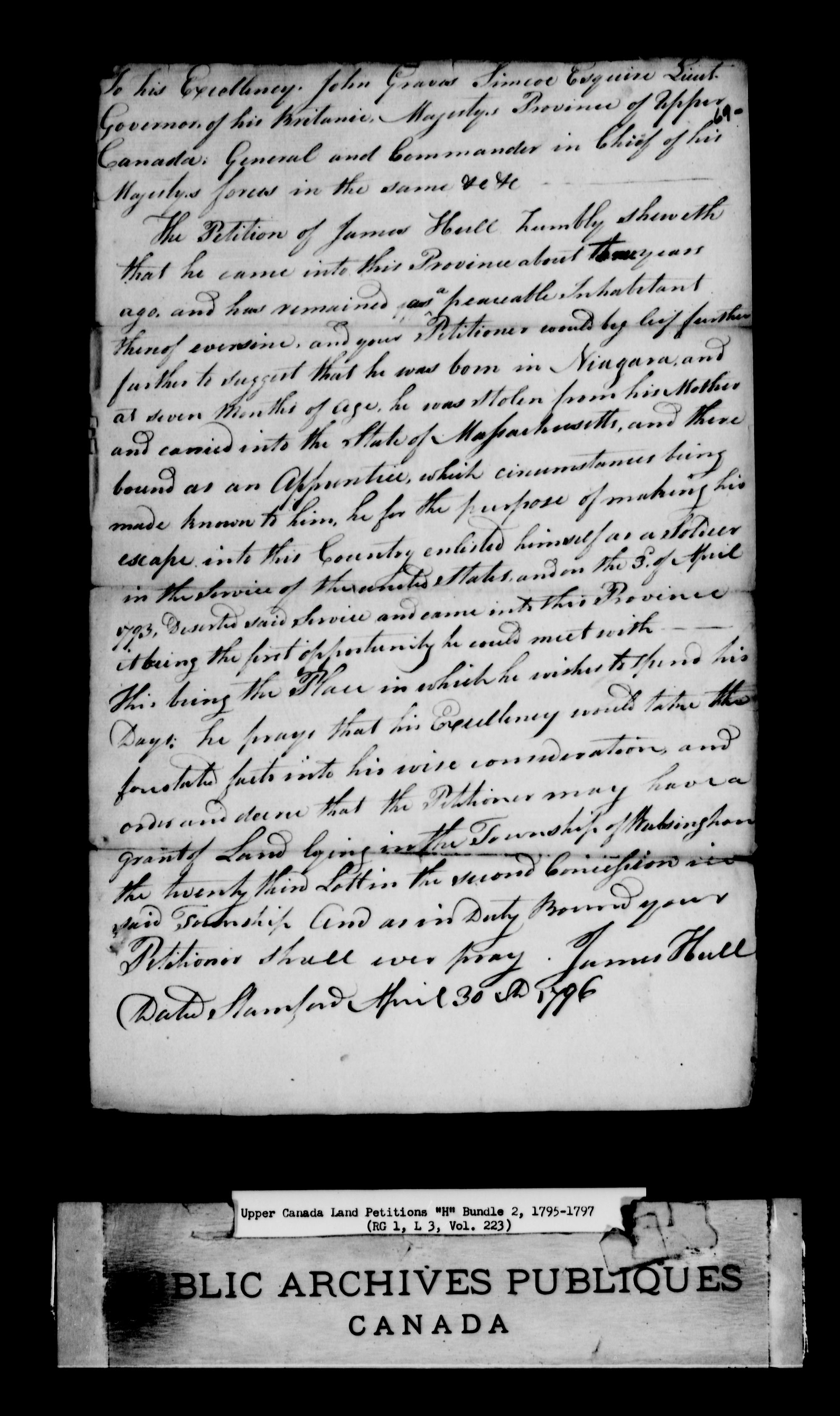 Title: Upper Canada Land Petitions (1763-1865) - Mikan Number: 205131 - Microform: c-2043