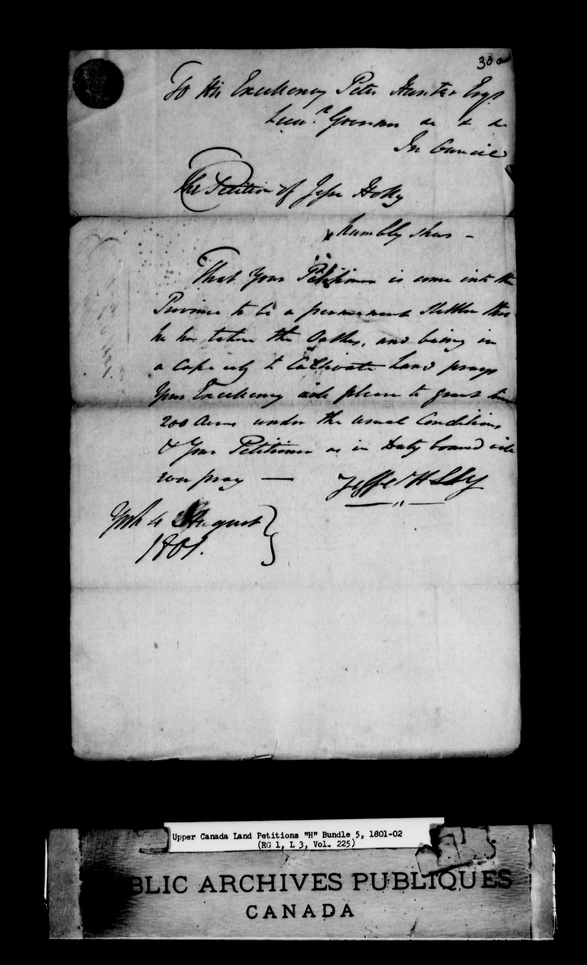 Title: Upper Canada Land Petitions (1763-1865) - Mikan Number: 205131 - Microform: c-2044