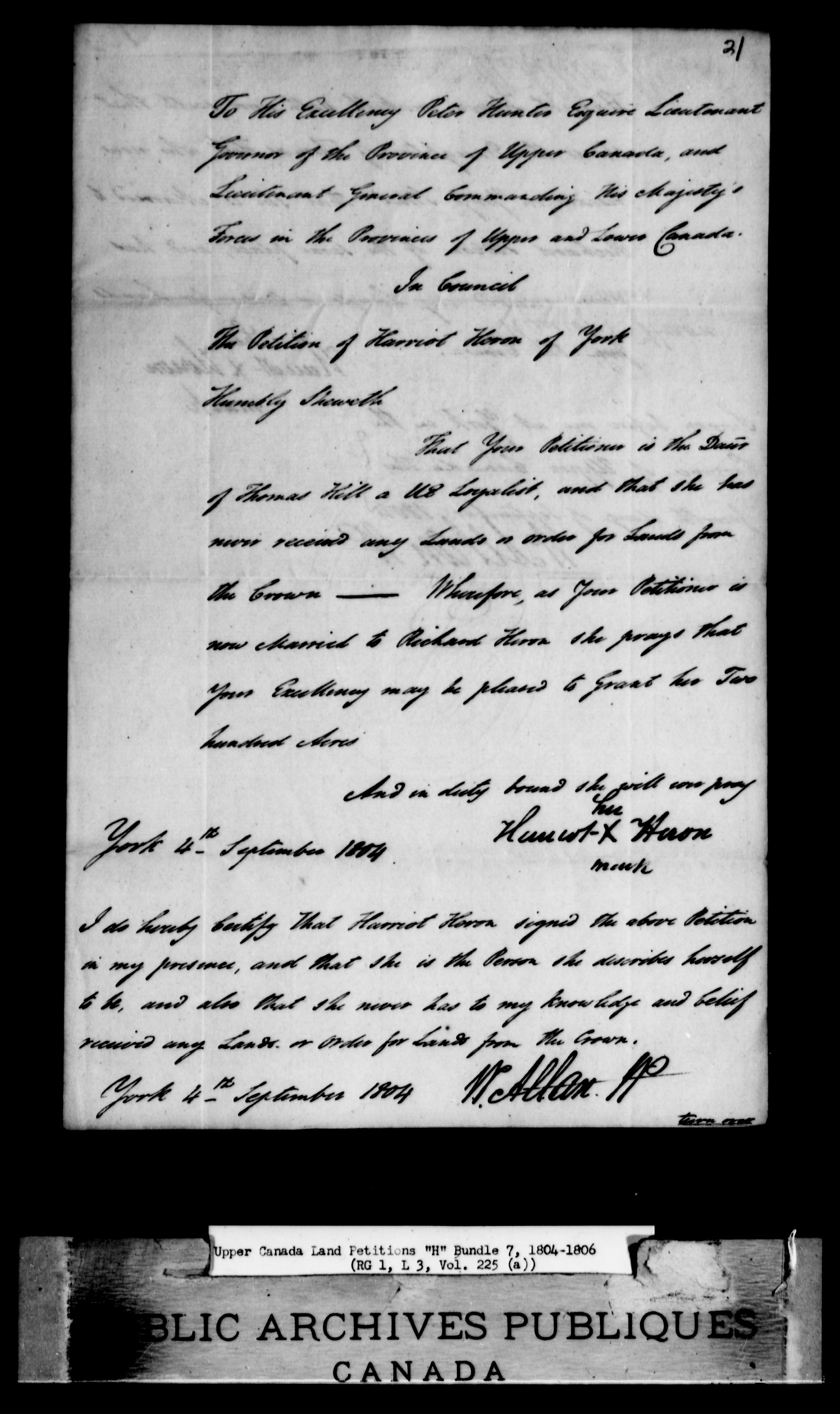 Title: Upper Canada Land Petitions (1763-1865) - Mikan Number: 205131 - Microform: c-2045