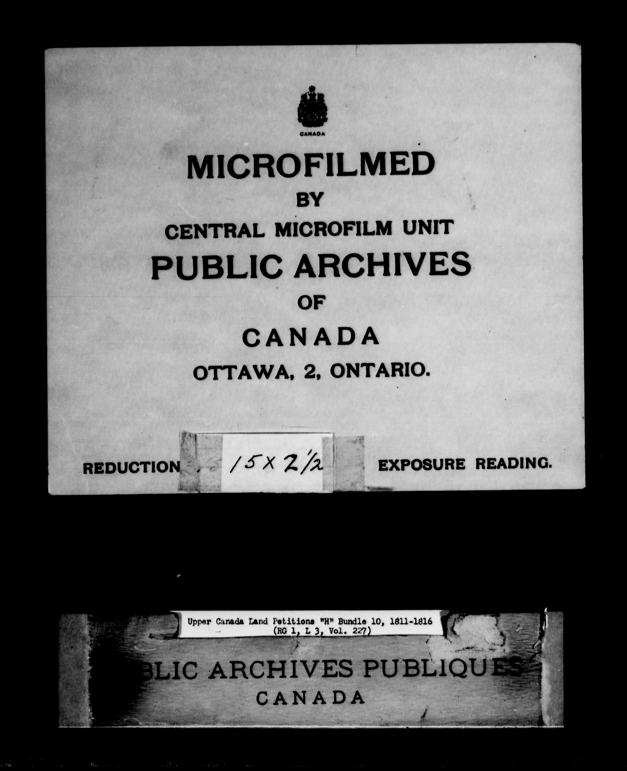 Title: Upper Canada Land Petitions (1763-1865) - Mikan Number: 205131 - Microform: c-2047