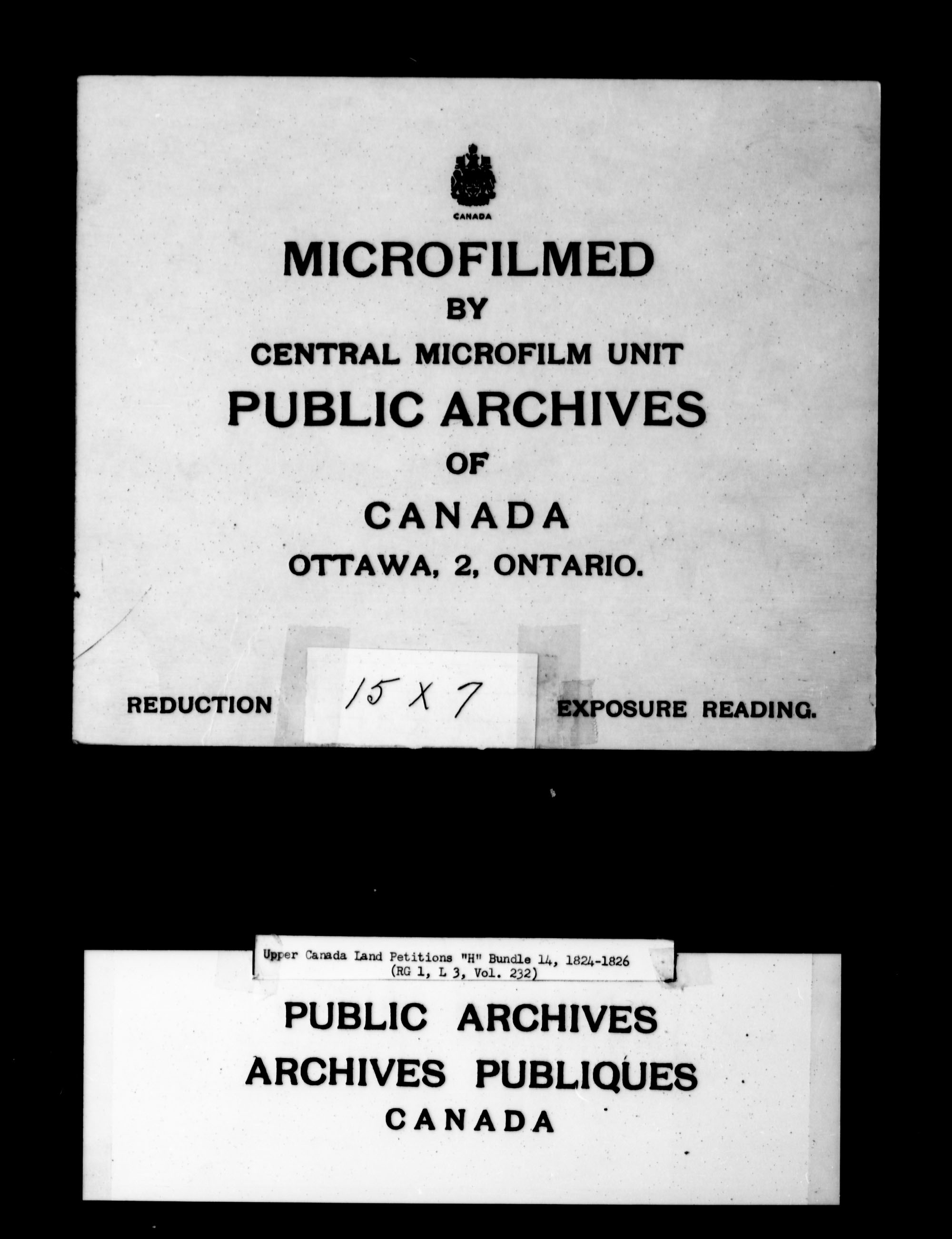 Title: Upper Canada Land Petitions (1763-1865) - Mikan Number: 205131 - Microform: c-2050