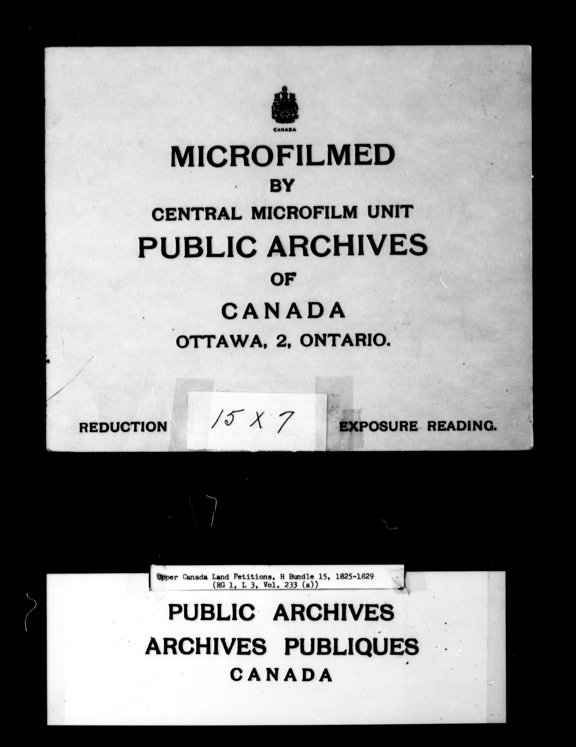 Title: Upper Canada Land Petitions (1763-1865) - Mikan Number: 205131 - Microform: c-2051