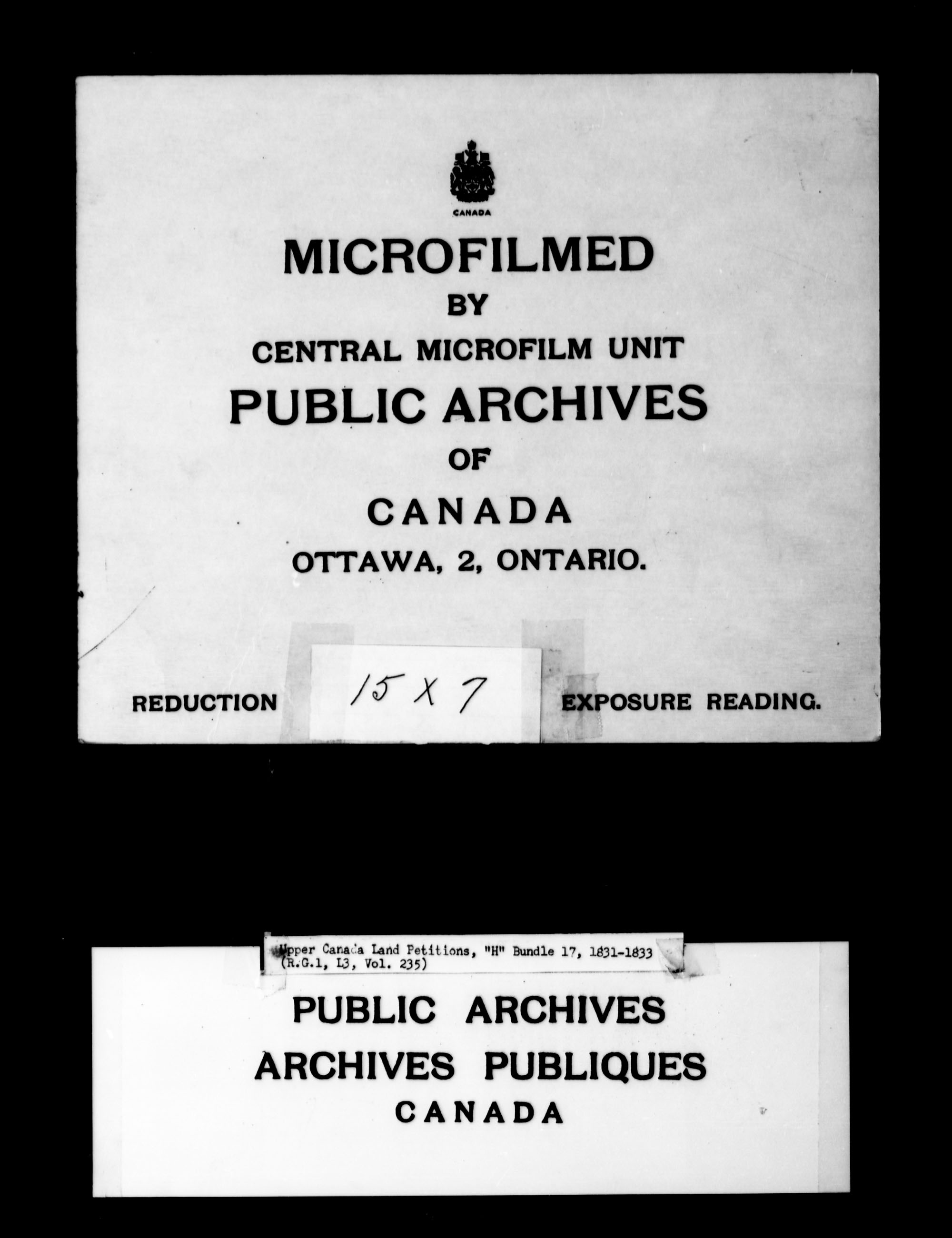 Title: Upper Canada Land Petitions (1763-1865) - Mikan Number: 205131 - Microform: c-2052