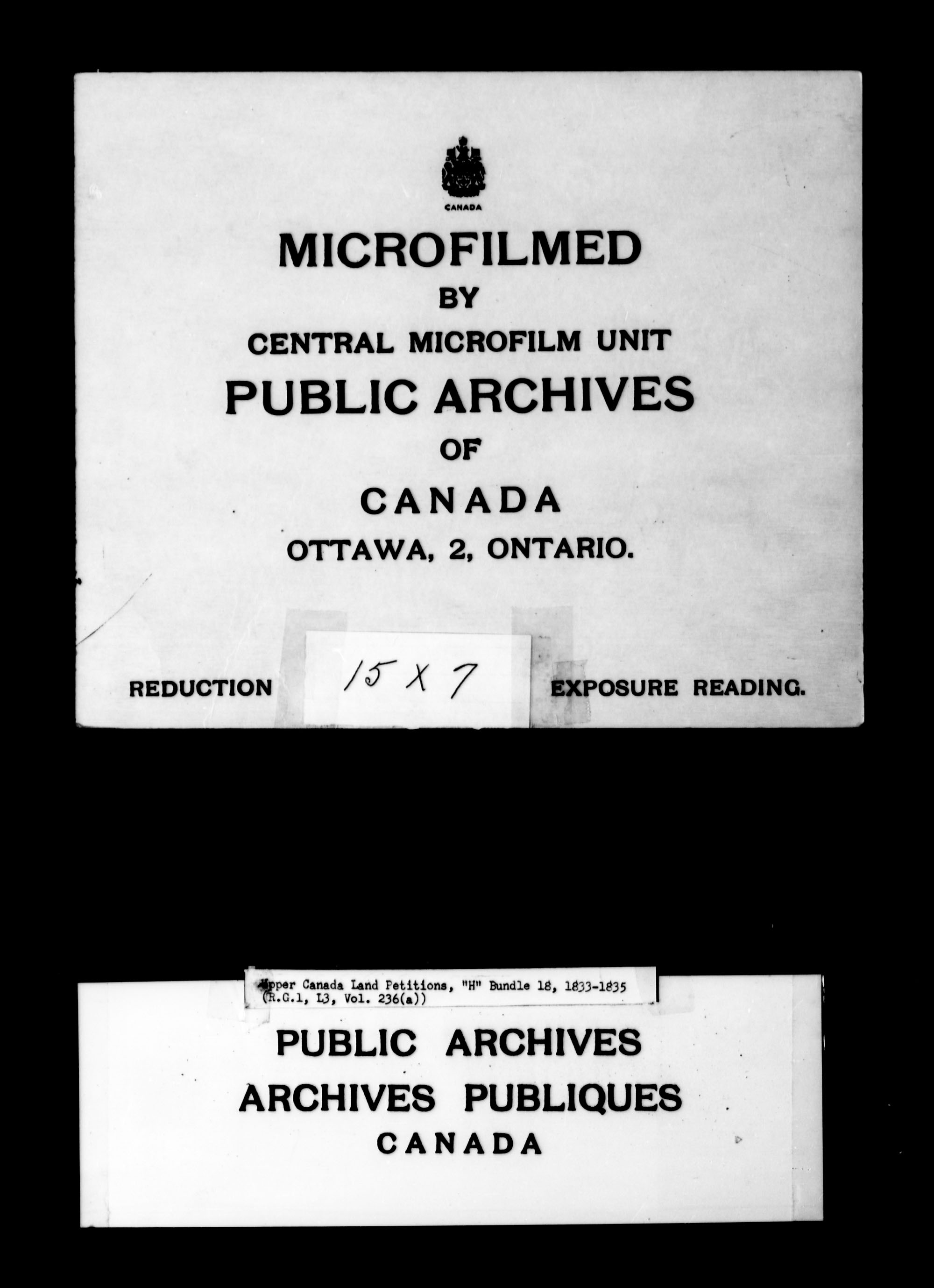 Title: Upper Canada Land Petitions (1763-1865) - Mikan Number: 205131 - Microform: c-2053