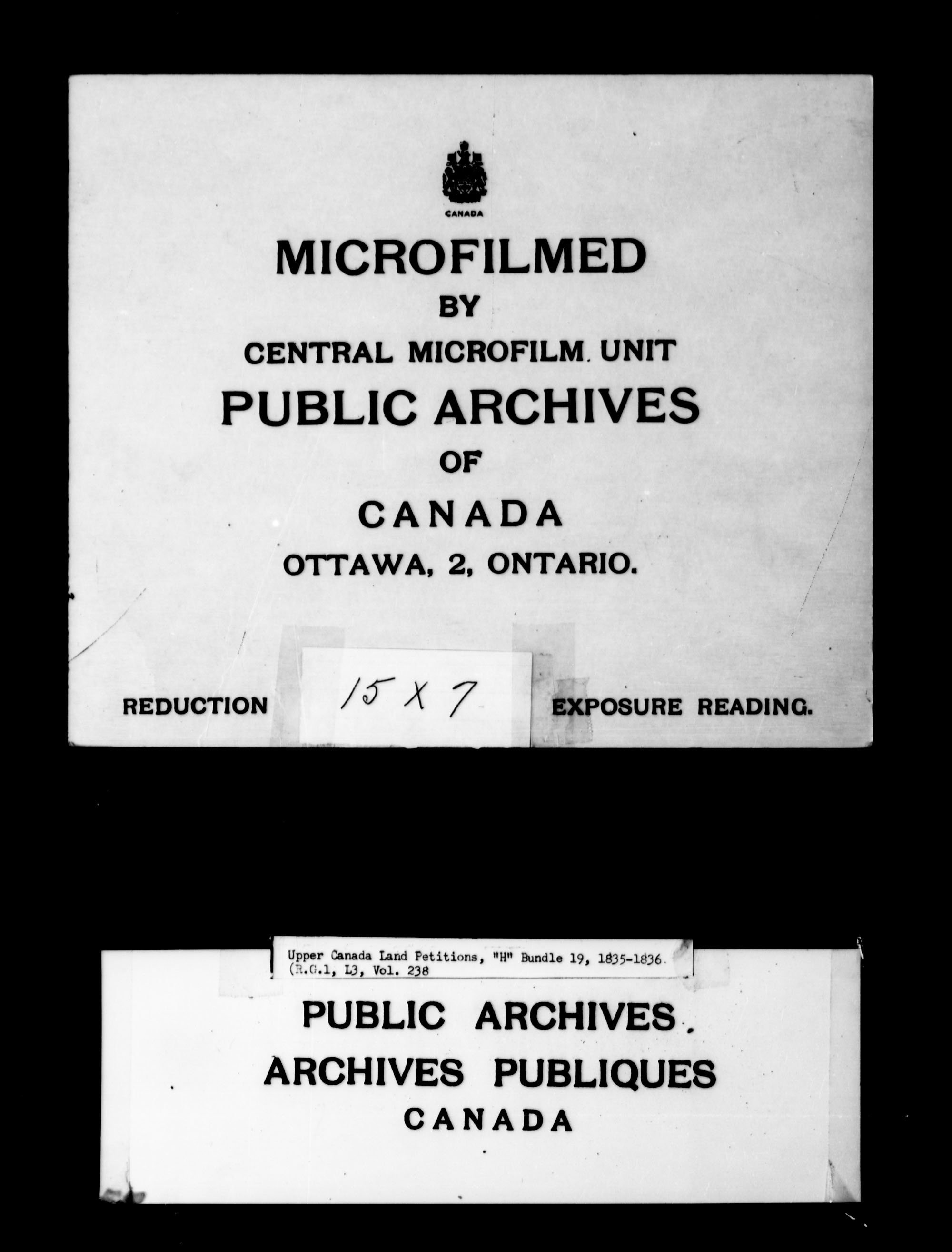 Title: Upper Canada Land Petitions (1763-1865) - Mikan Number: 205131 - Microform: c-2095