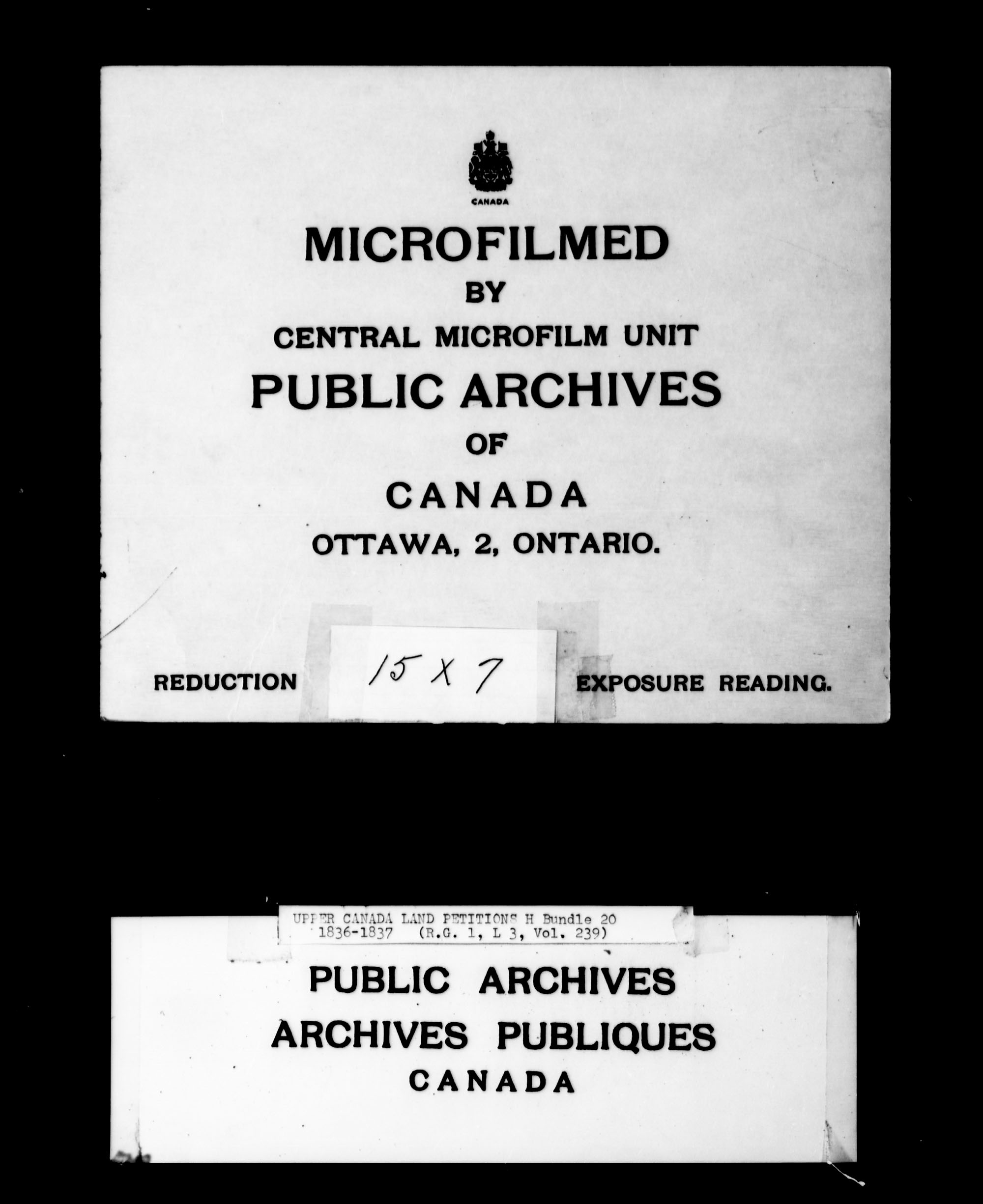 Title: Upper Canada Land Petitions (1763-1865) - Mikan Number: 205131 - Microform: c-2096