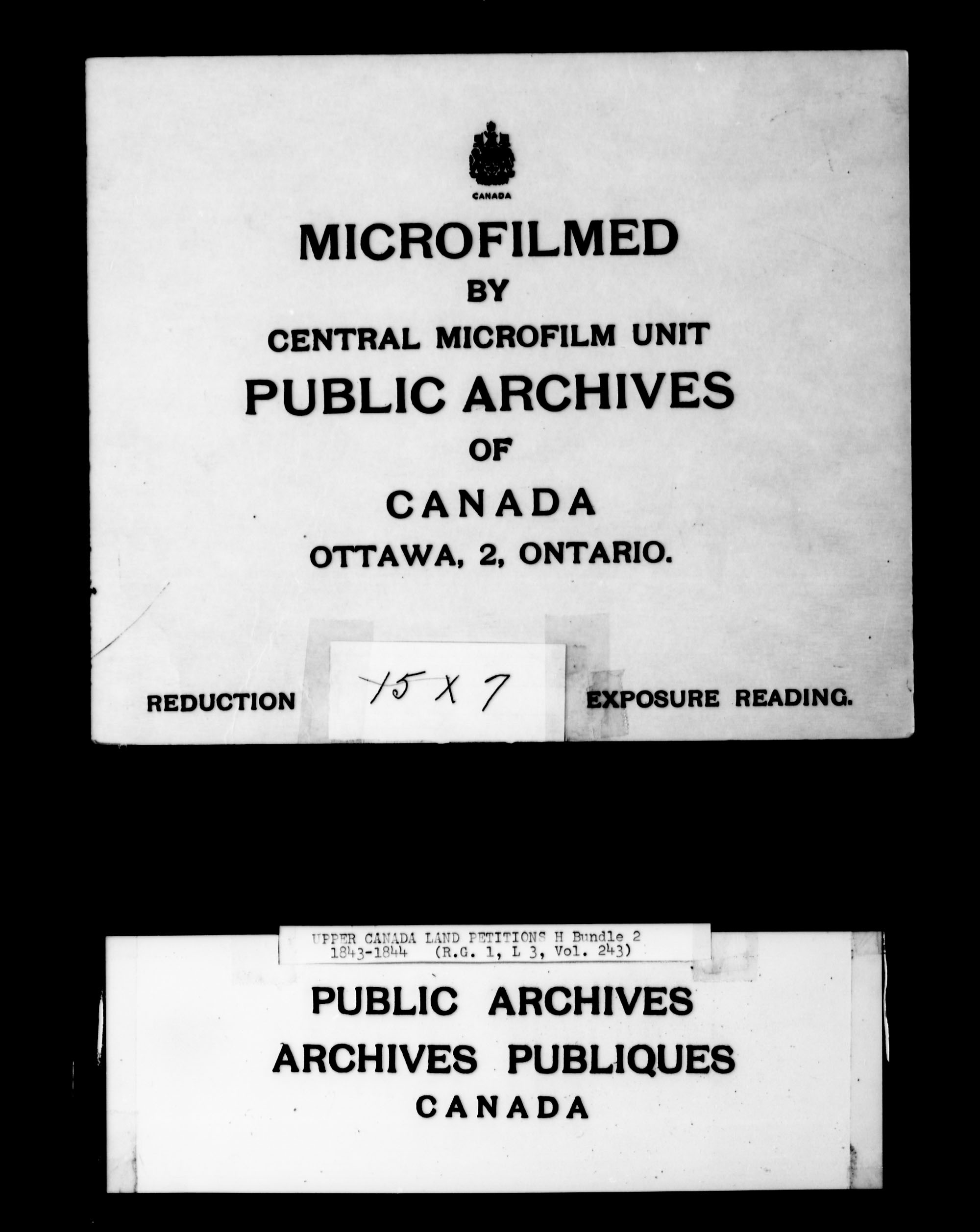 Title: Upper Canada Land Petitions (1763-1865) - Mikan Number: 205131 - Microform: c-2098
