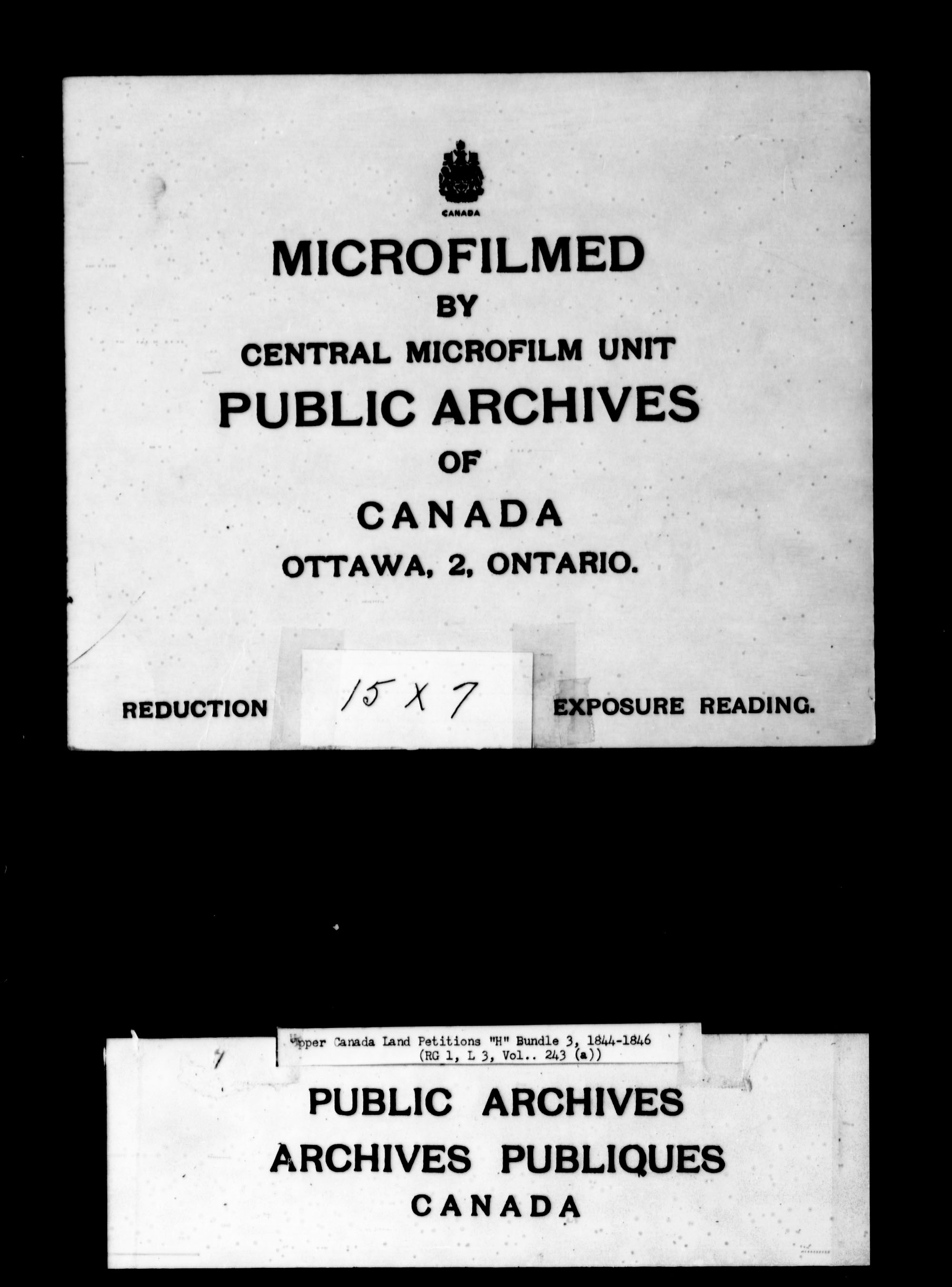 Title: Upper Canada Land Petitions (1763-1865) - Mikan Number: 205131 - Microform: c-2099