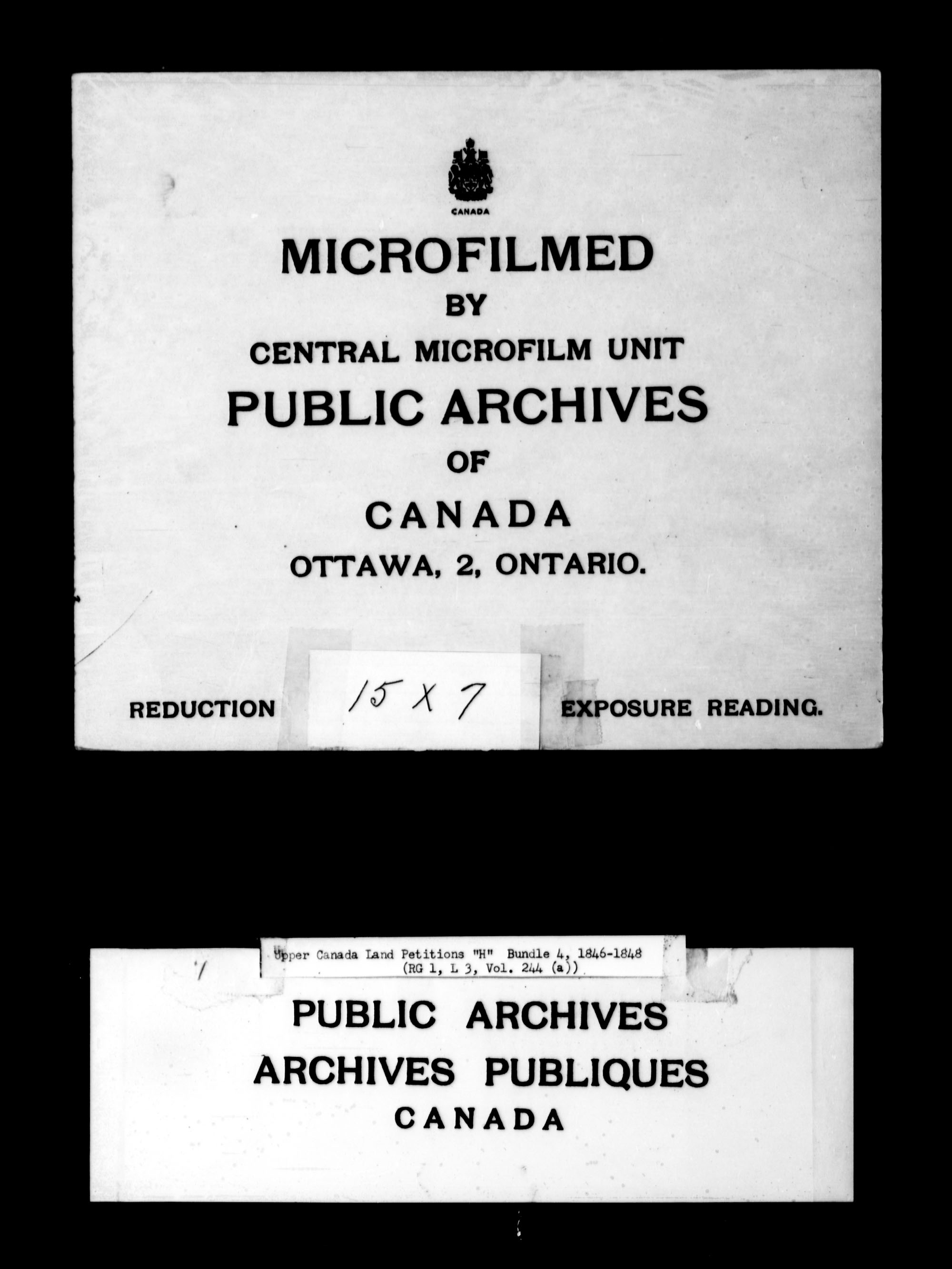 Title: Upper Canada Land Petitions (1763-1865) - Mikan Number: 205131 - Microform: c-2100