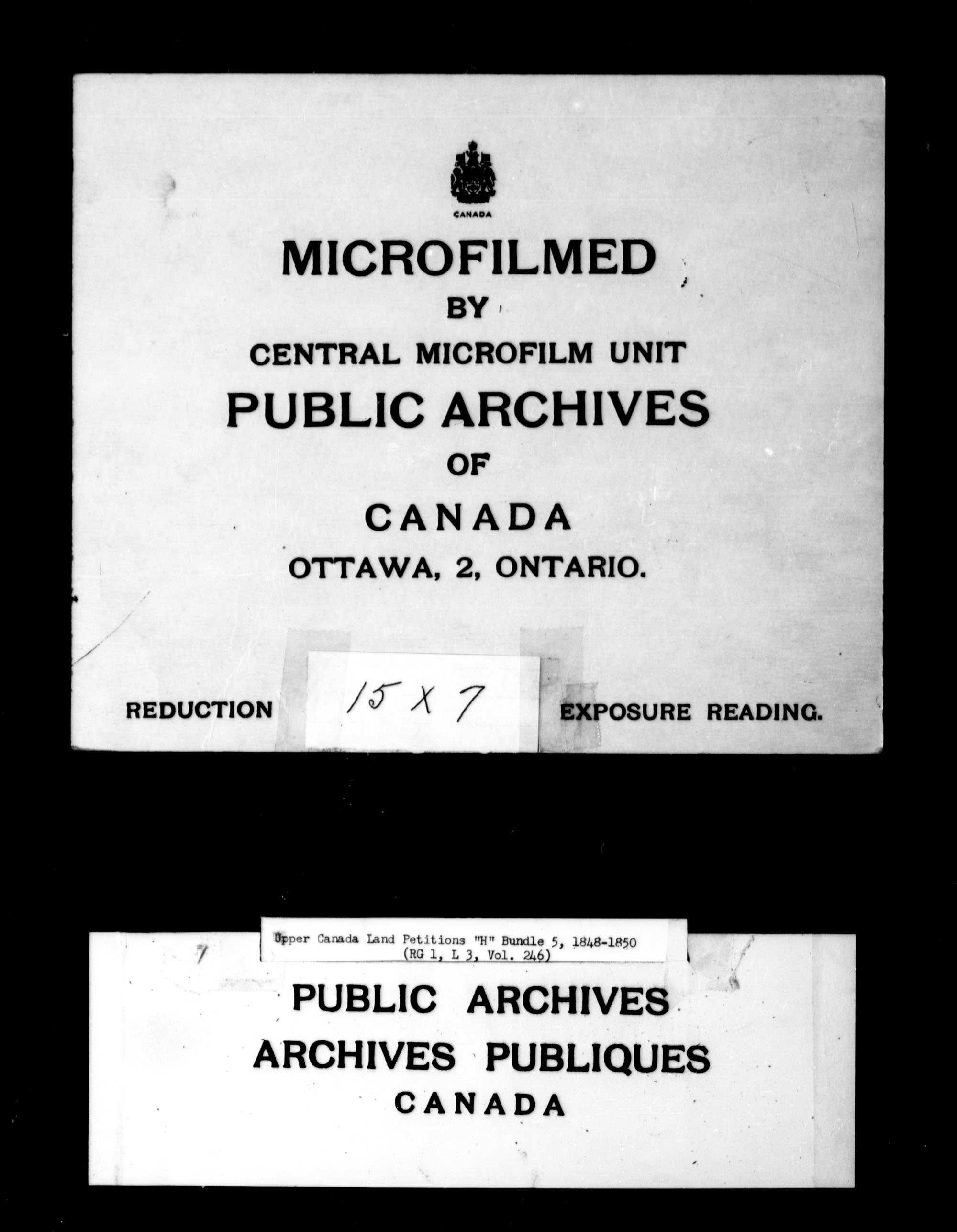 Title: Upper Canada Land Petitions (1763-1865) - Mikan Number: 205131 - Microform: c-2101