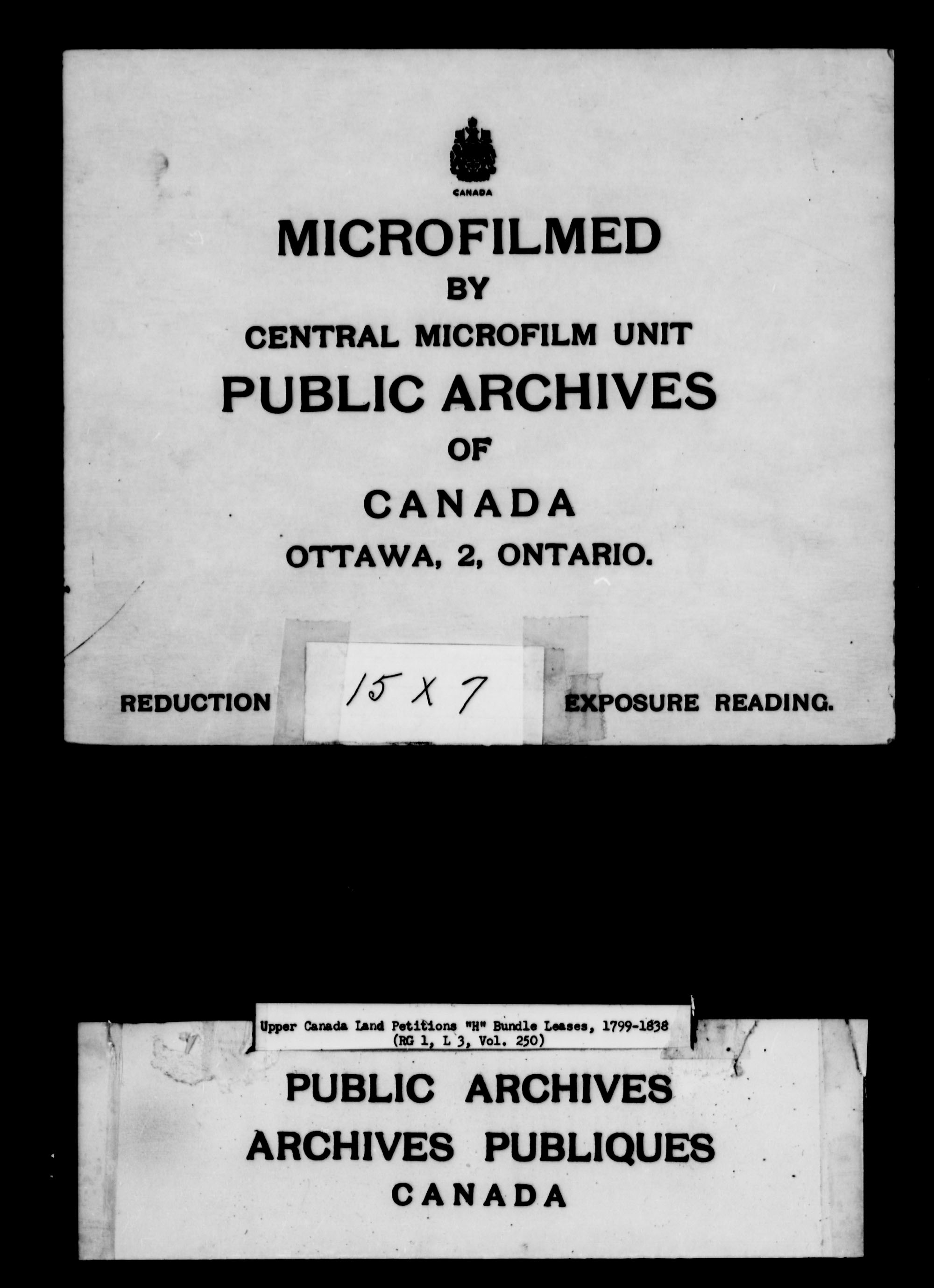 Title: Upper Canada Land Petitions (1763-1865) - Mikan Number: 205131 - Microform: c-2106