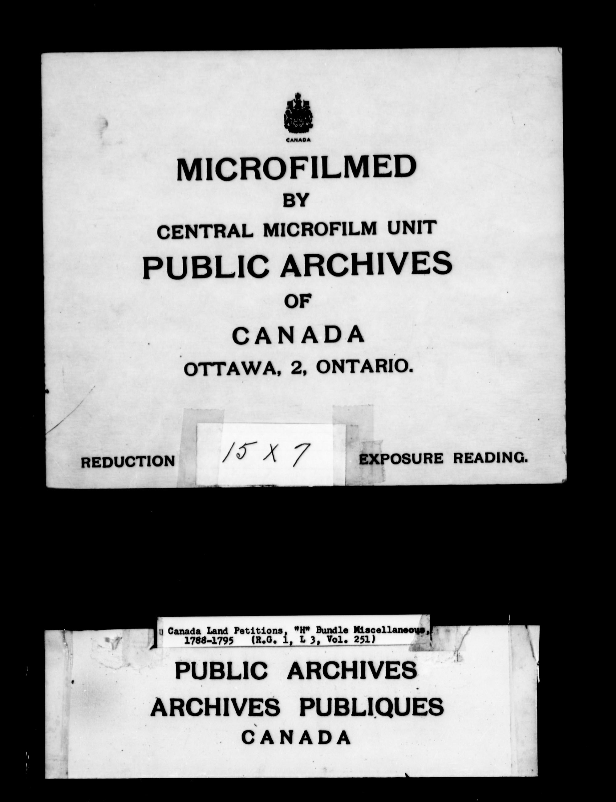 Title: Upper Canada Land Petitions (1763-1865) - Mikan Number: 205131 - Microform: c-2107