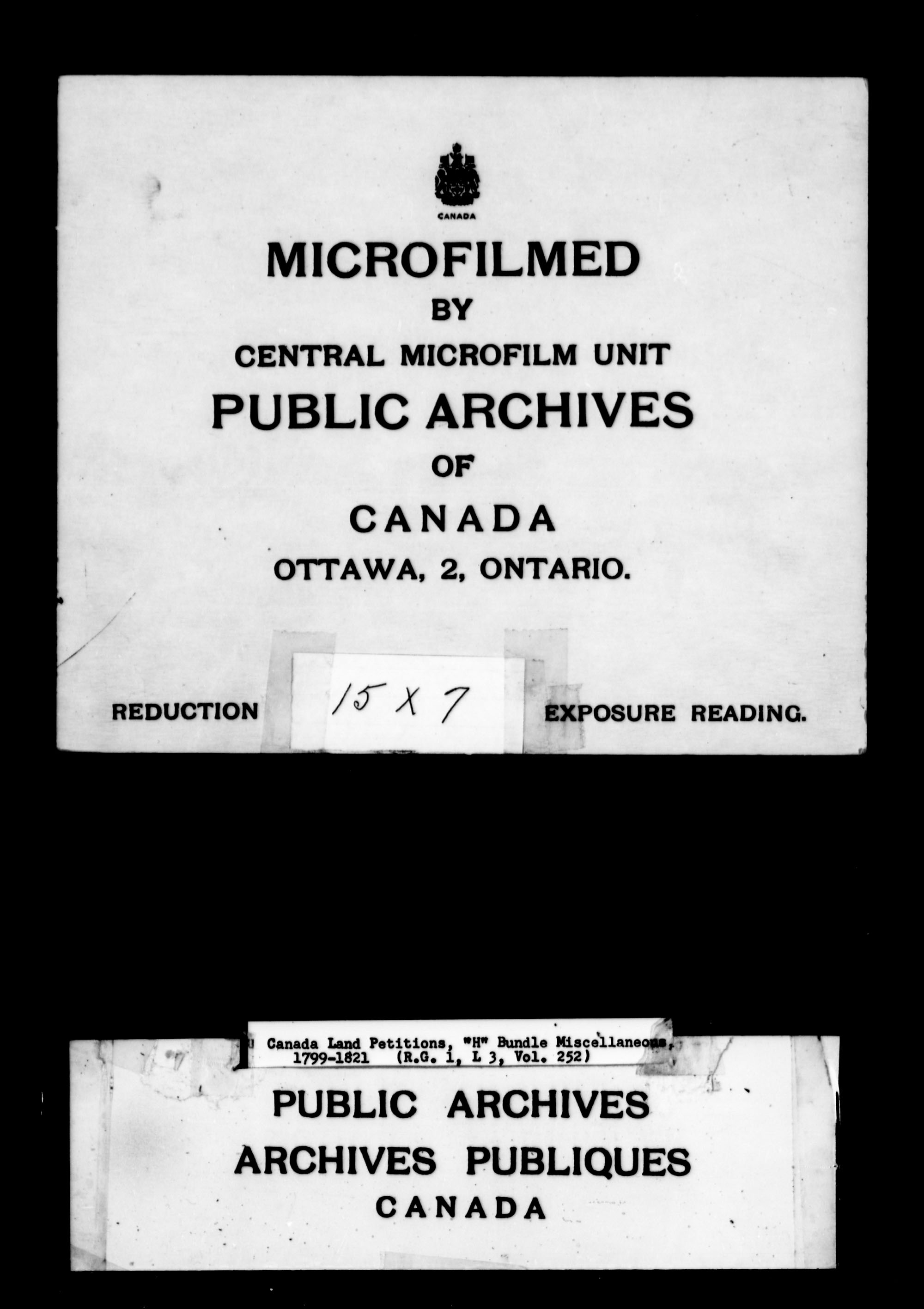 Title: Upper Canada Land Petitions (1763-1865) - Mikan Number: 205131 - Microform: c-2108