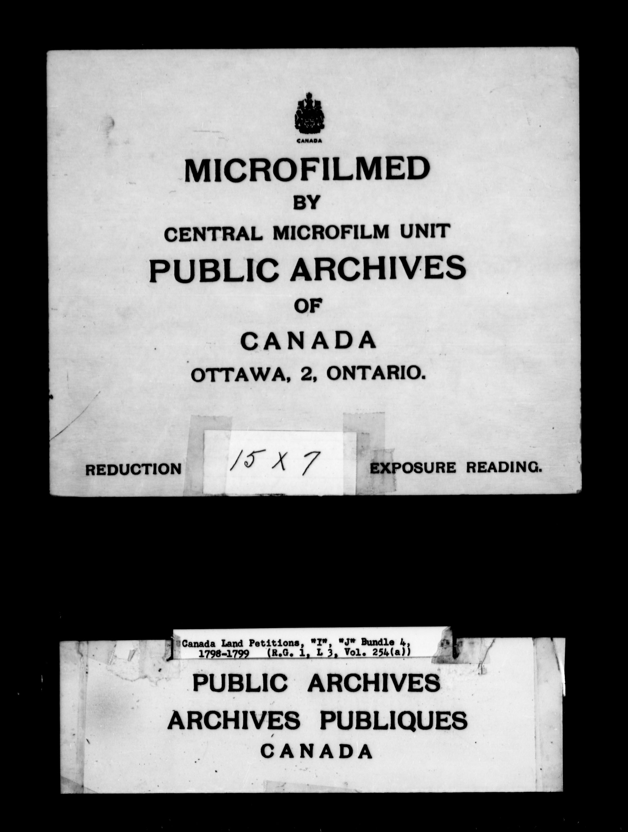 Title: Upper Canada Land Petitions (1763-1865) - Mikan Number: 205131 - Microform: c-2109