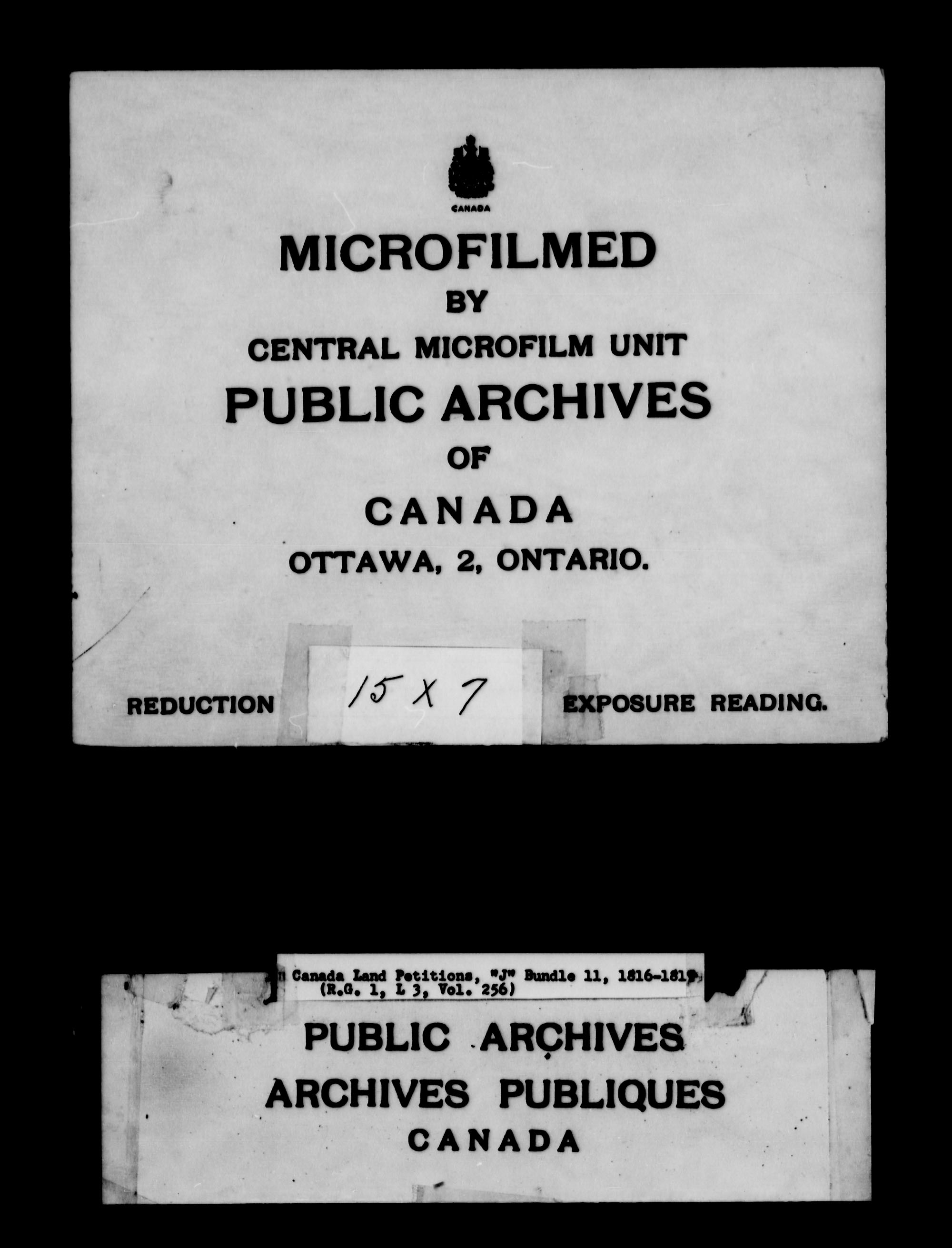 Title: Upper Canada Land Petitions (1763-1865) - Mikan Number: 205131 - Microform: c-2110