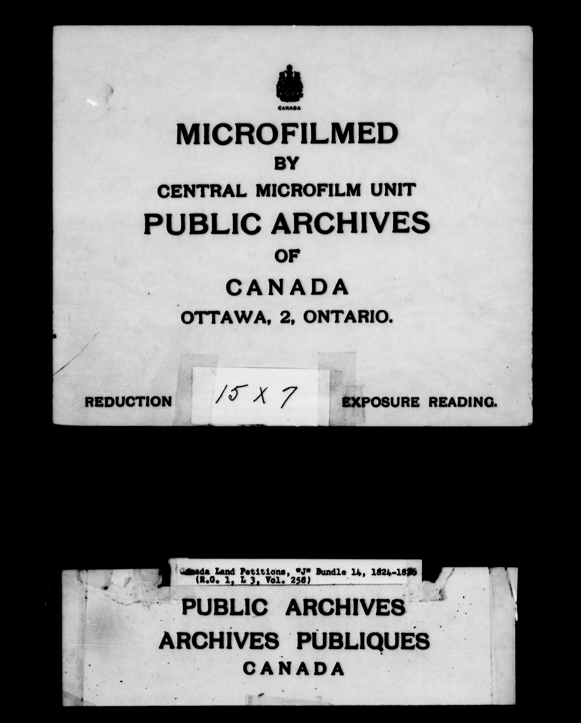 Title: Upper Canada Land Petitions (1763-1865) - Mikan Number: 205131 - Microform: c-2111