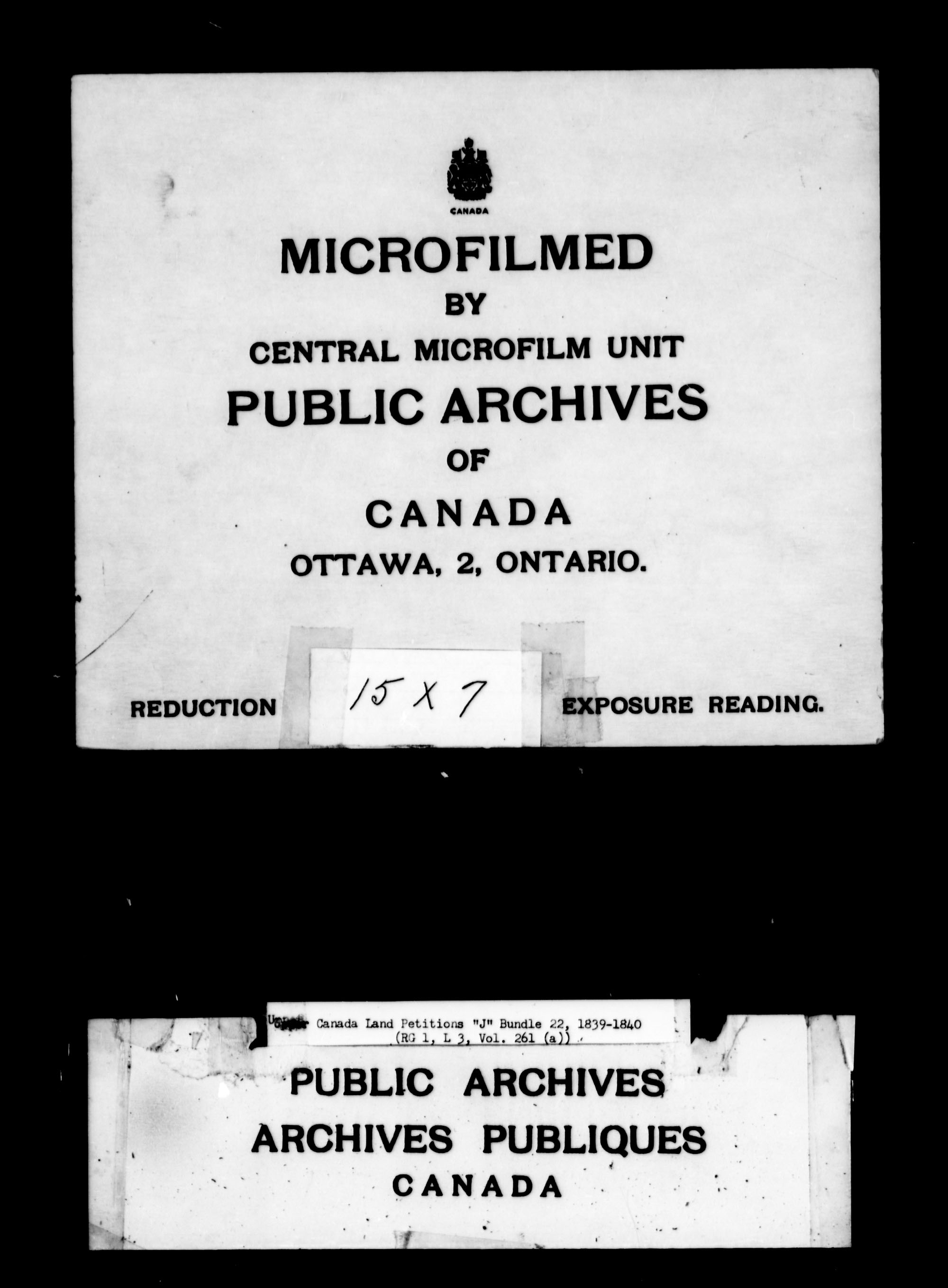 Title: Upper Canada Land Petitions (1763-1865) - Mikan Number: 205131 - Microform: c-2113