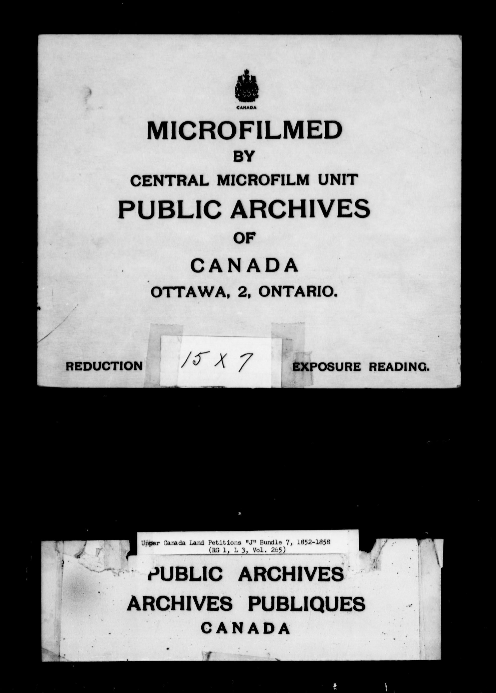 Title: Upper Canada Land Petitions (1763-1865) - Mikan Number: 205131 - Microform: c-2115
