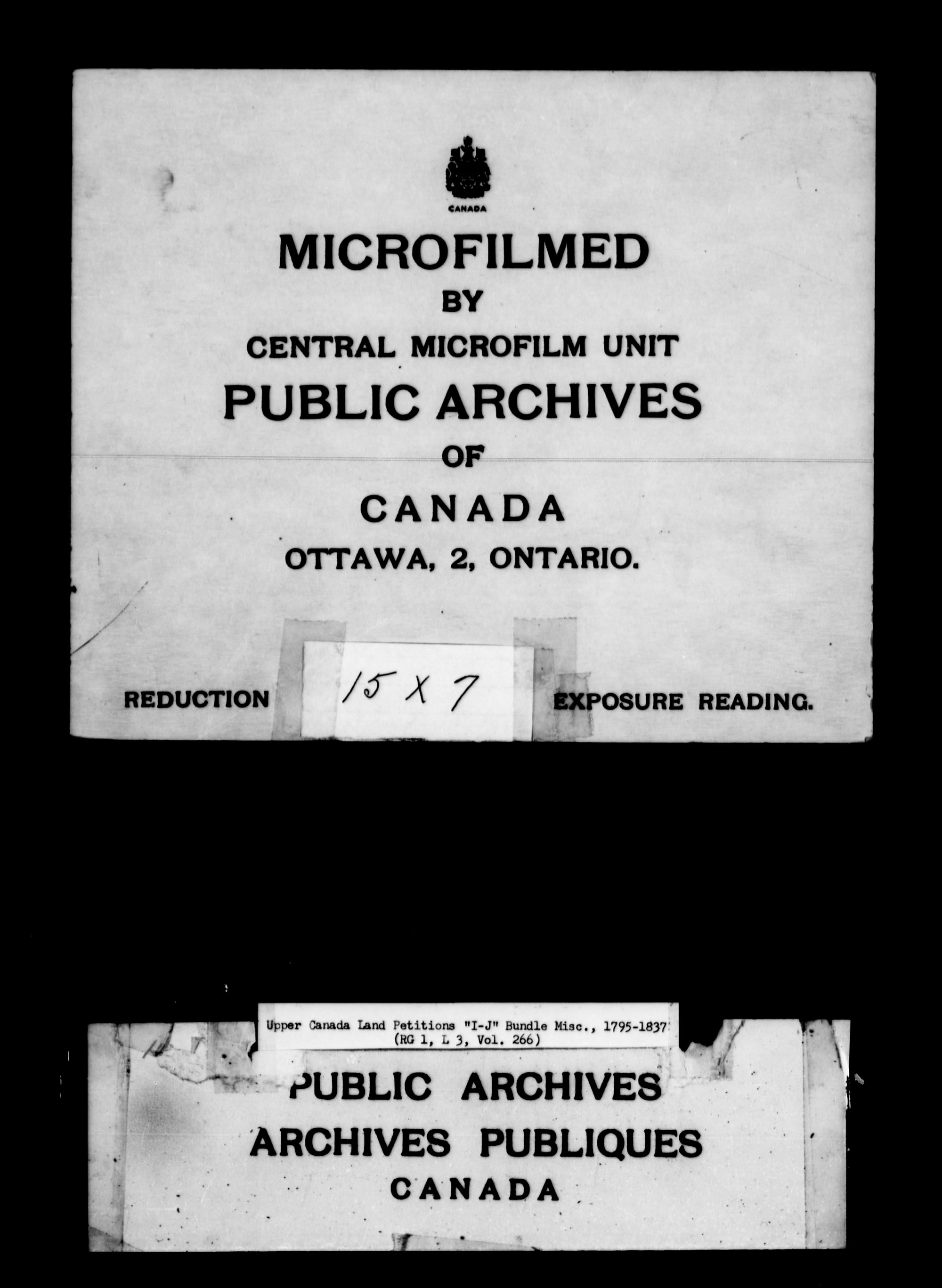 Title: Upper Canada Land Petitions (1763-1865) - Mikan Number: 205131 - Microform: c-2116