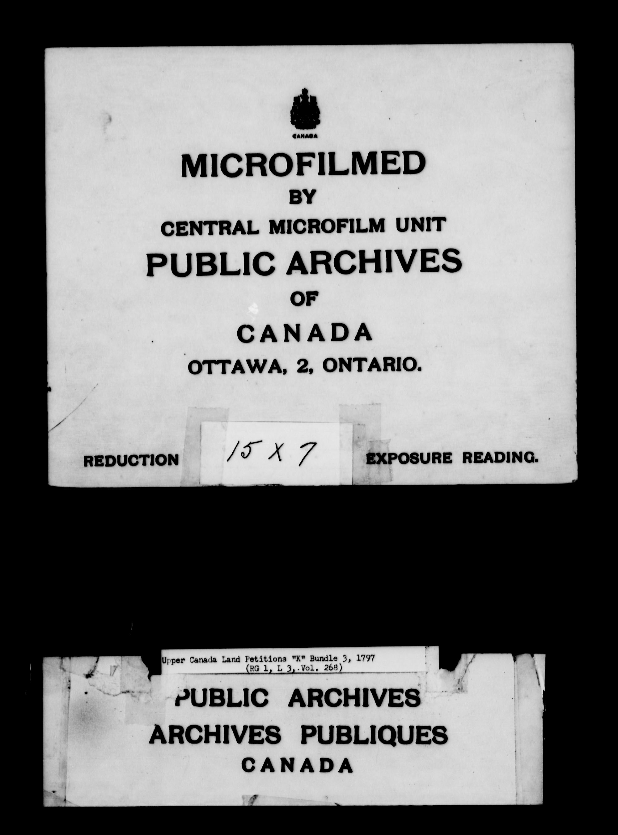 Title: Upper Canada Land Petitions (1763-1865) - Mikan Number: 205131 - Microform: c-2117