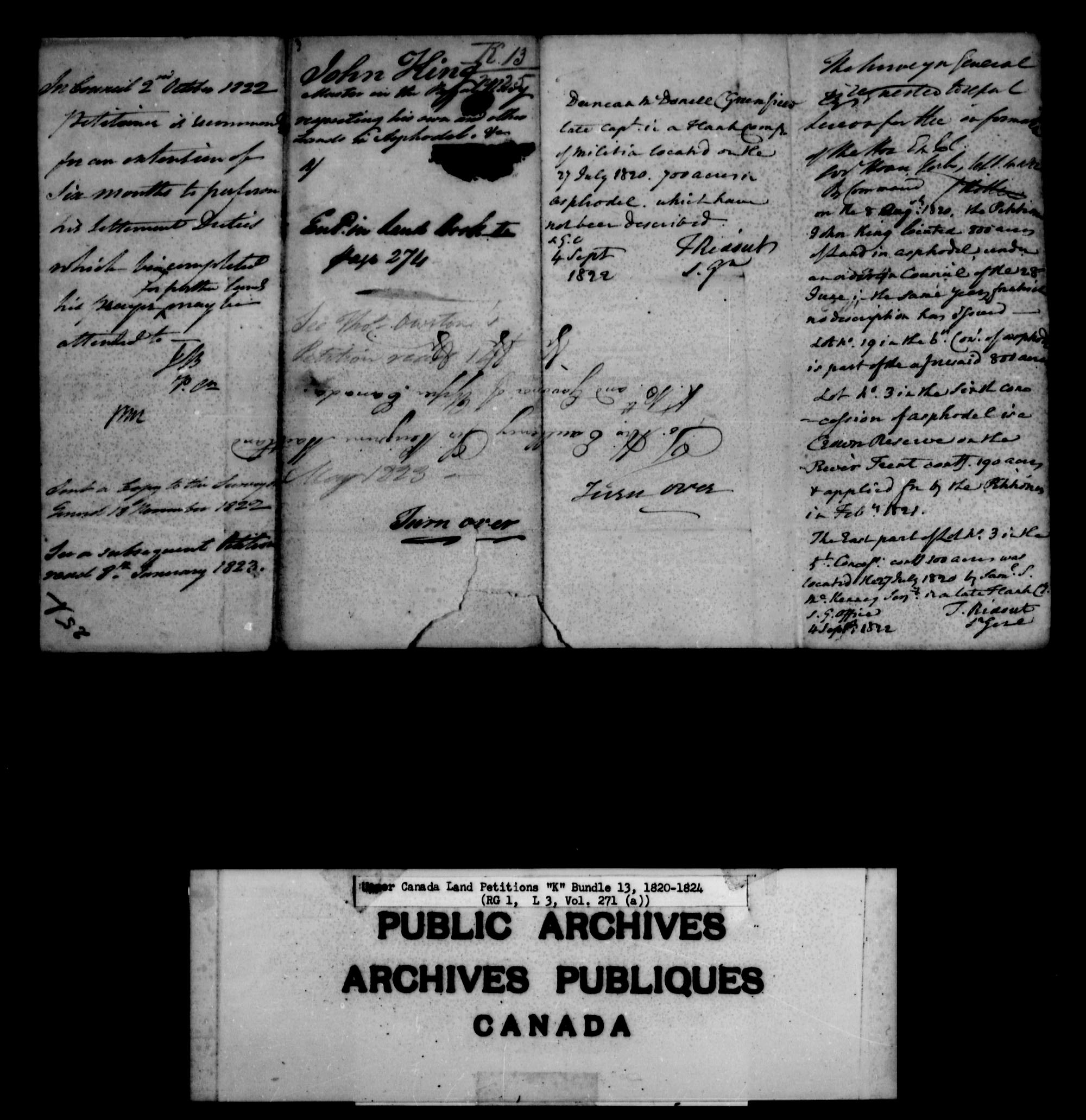 Title: Upper Canada Land Petitions (1763-1865) - Mikan Number: 205131 - Microform: c-2118