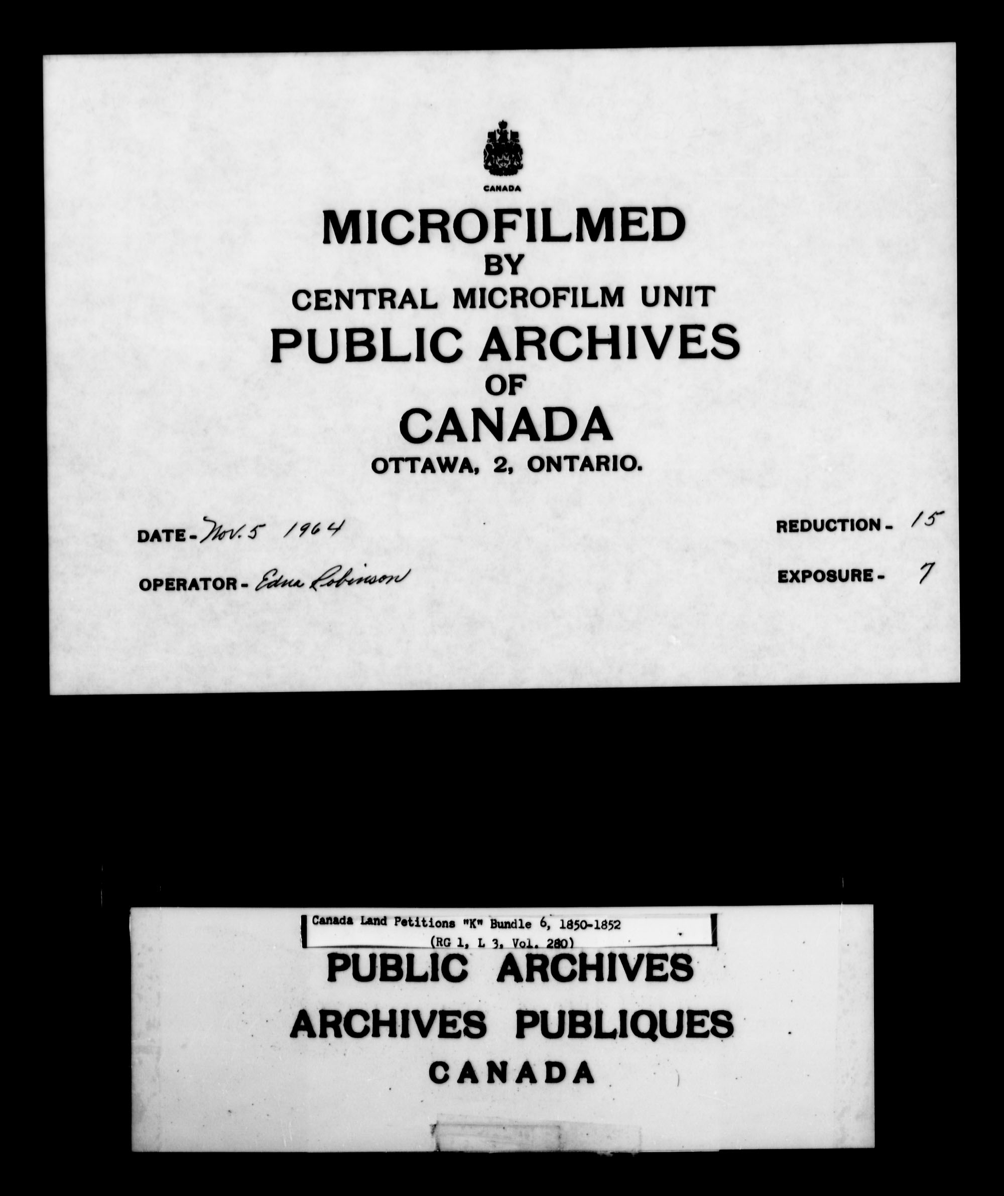 Title: Upper Canada Land Petitions (1763-1865) - Mikan Number: 205131 - Microform: c-2123