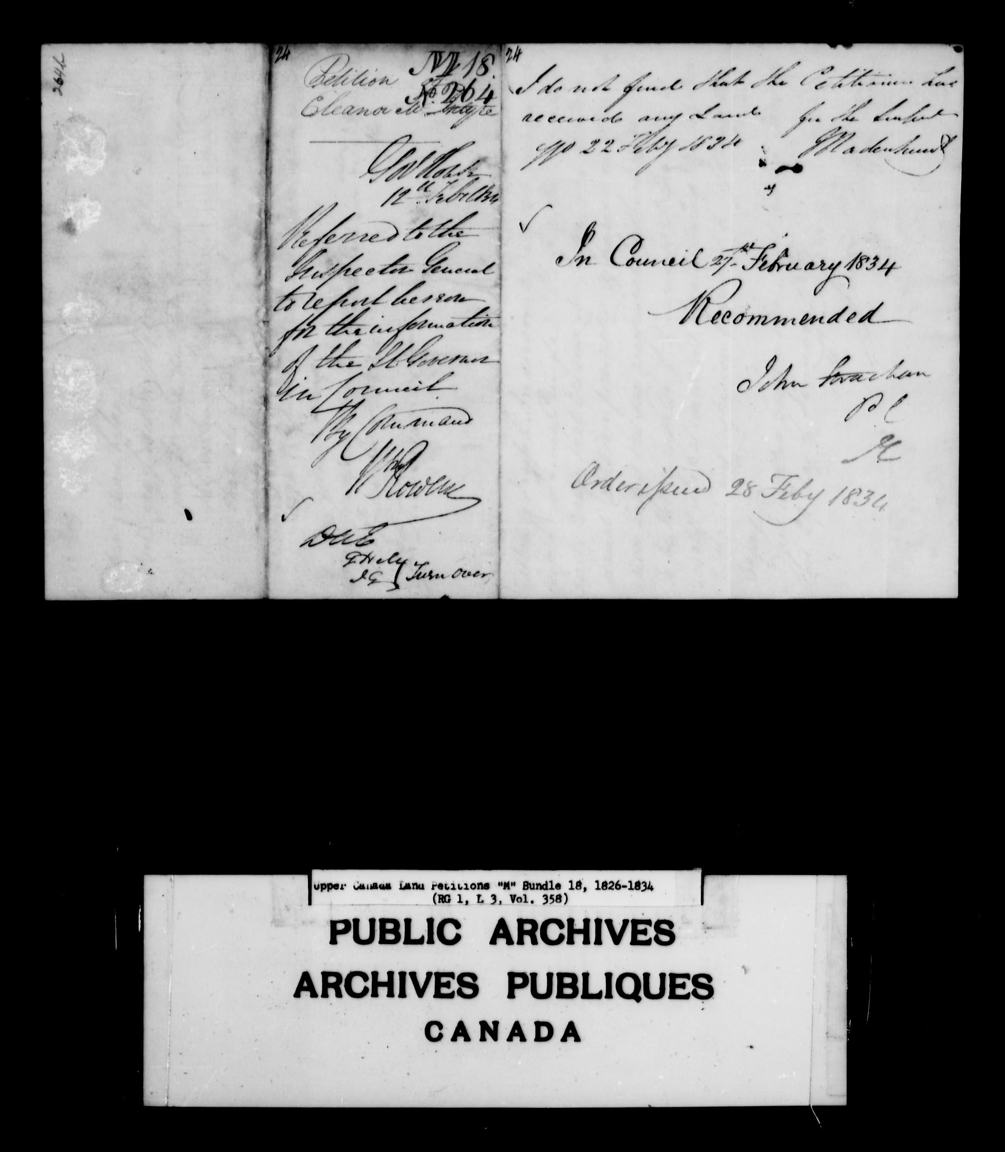 Title: Upper Canada Land Petitions (1763-1865) - Mikan Number: 205131 - Microform: c-2213
