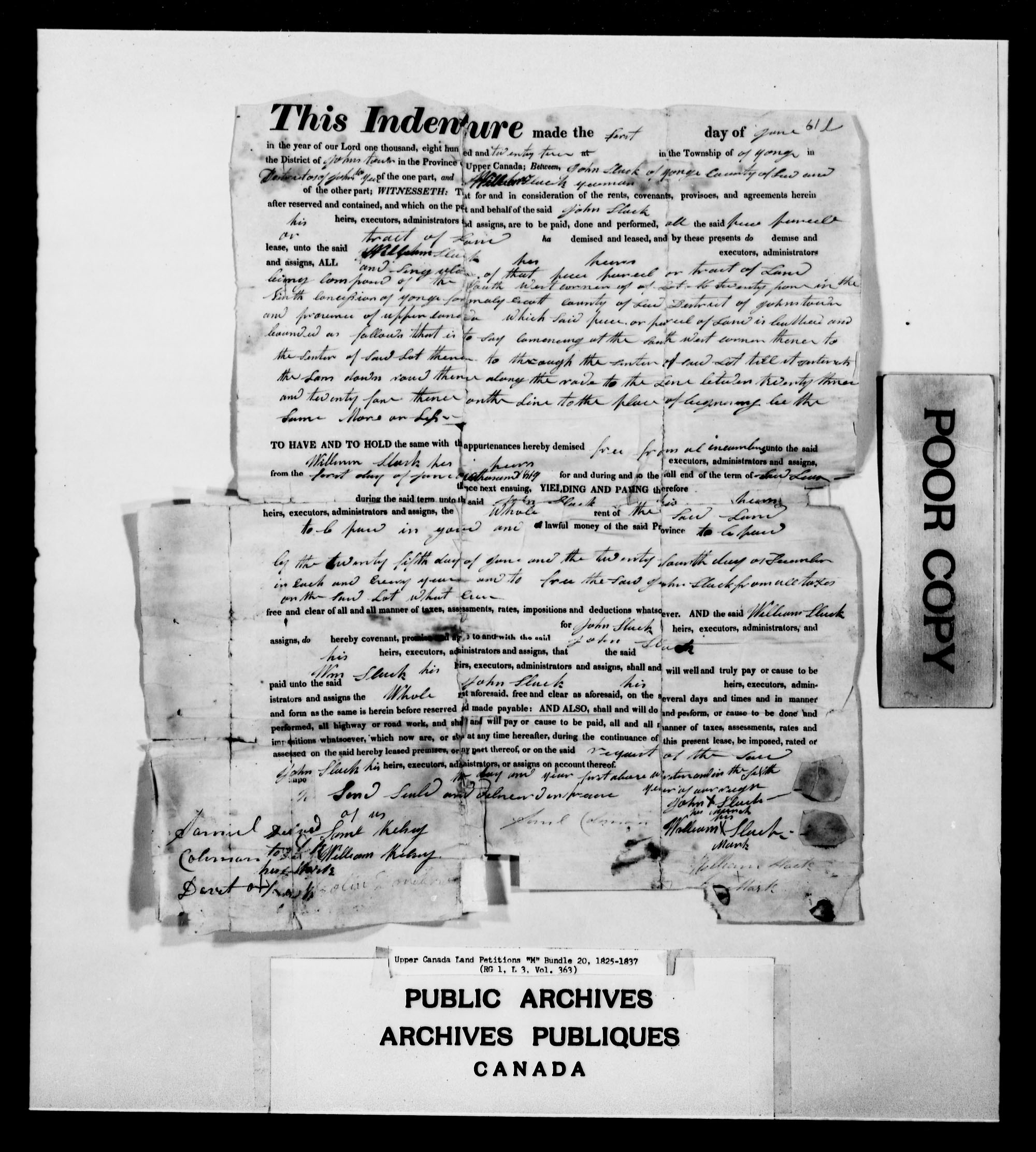 Title: Upper Canada Land Petitions (1763-1865) - Mikan Number: 205131 - Microform: c-2216