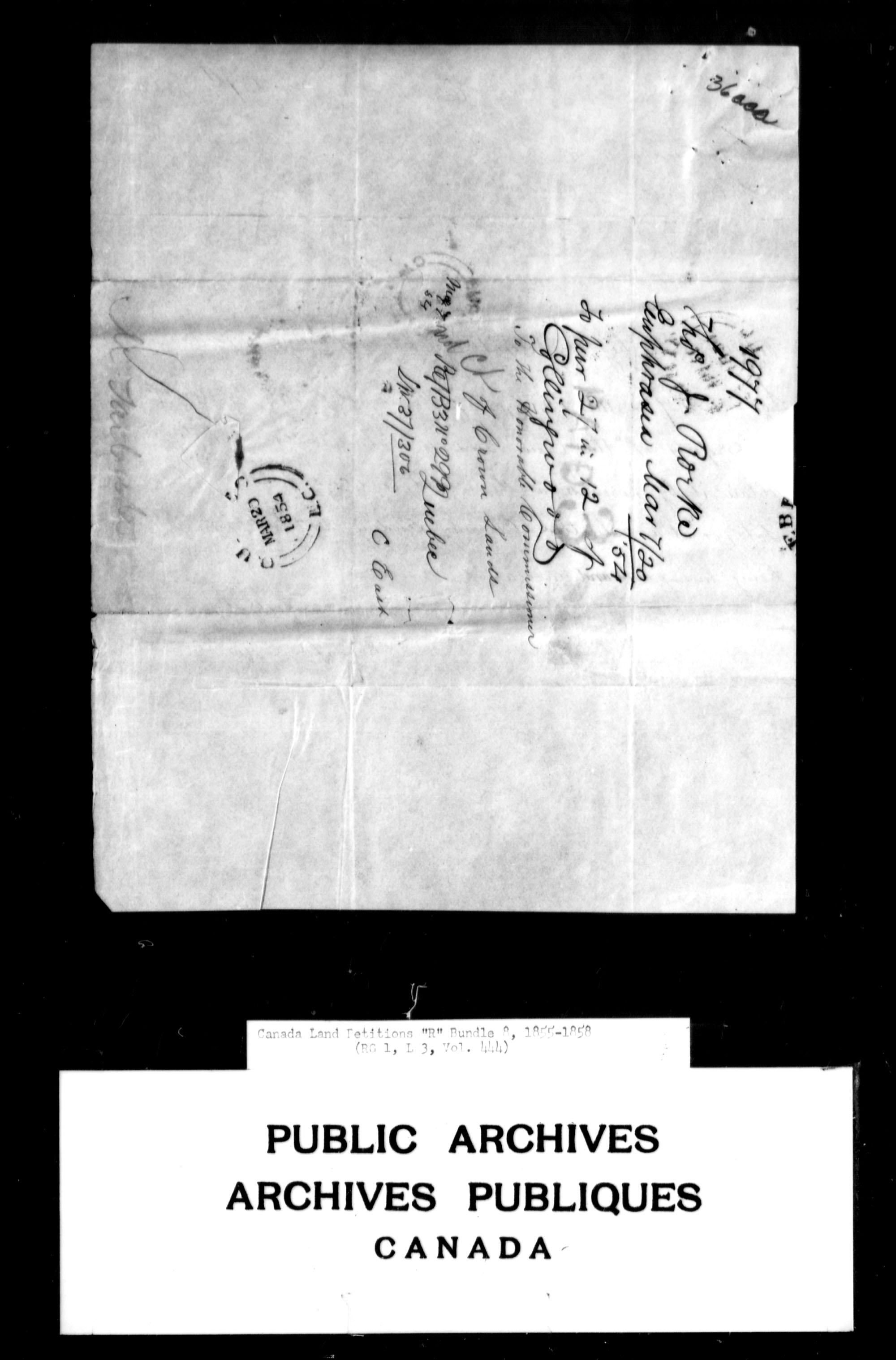 Title: Upper Canada Land Petitions (1763-1865) - Mikan Number: 205131 - Microform: c-2802