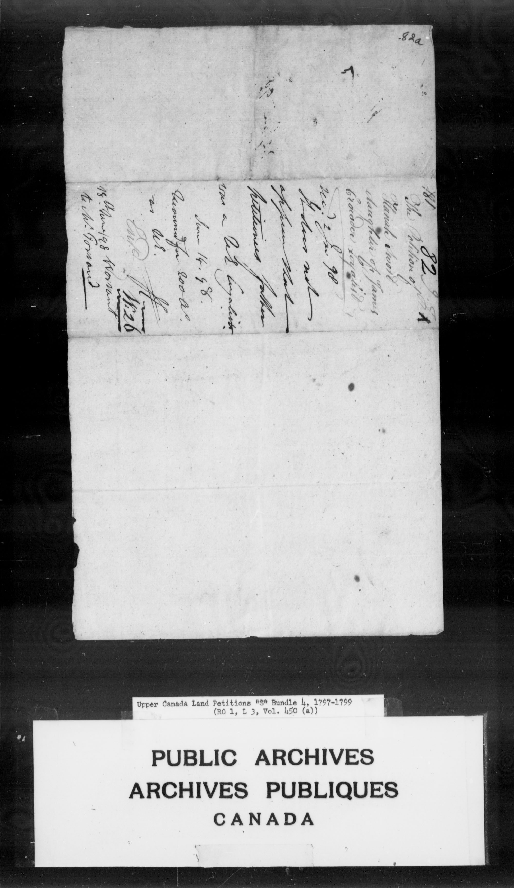 Title: Upper Canada Land Petitions (1763-1865) - Mikan Number: 205131 - Microform: c-2807