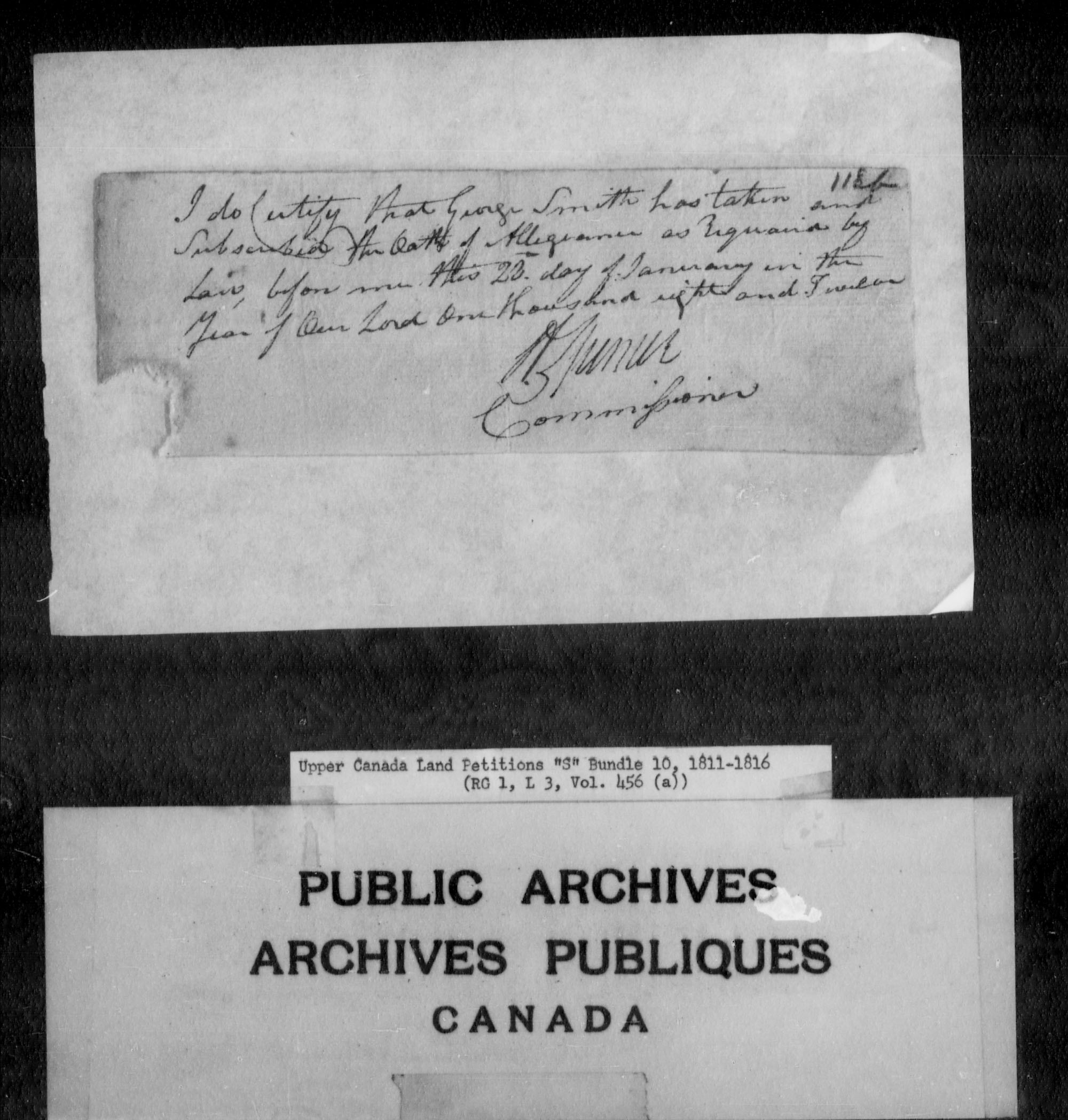 Title: Upper Canada Land Petitions (1763-1865) - Mikan Number: 205131 - Microform: c-2810