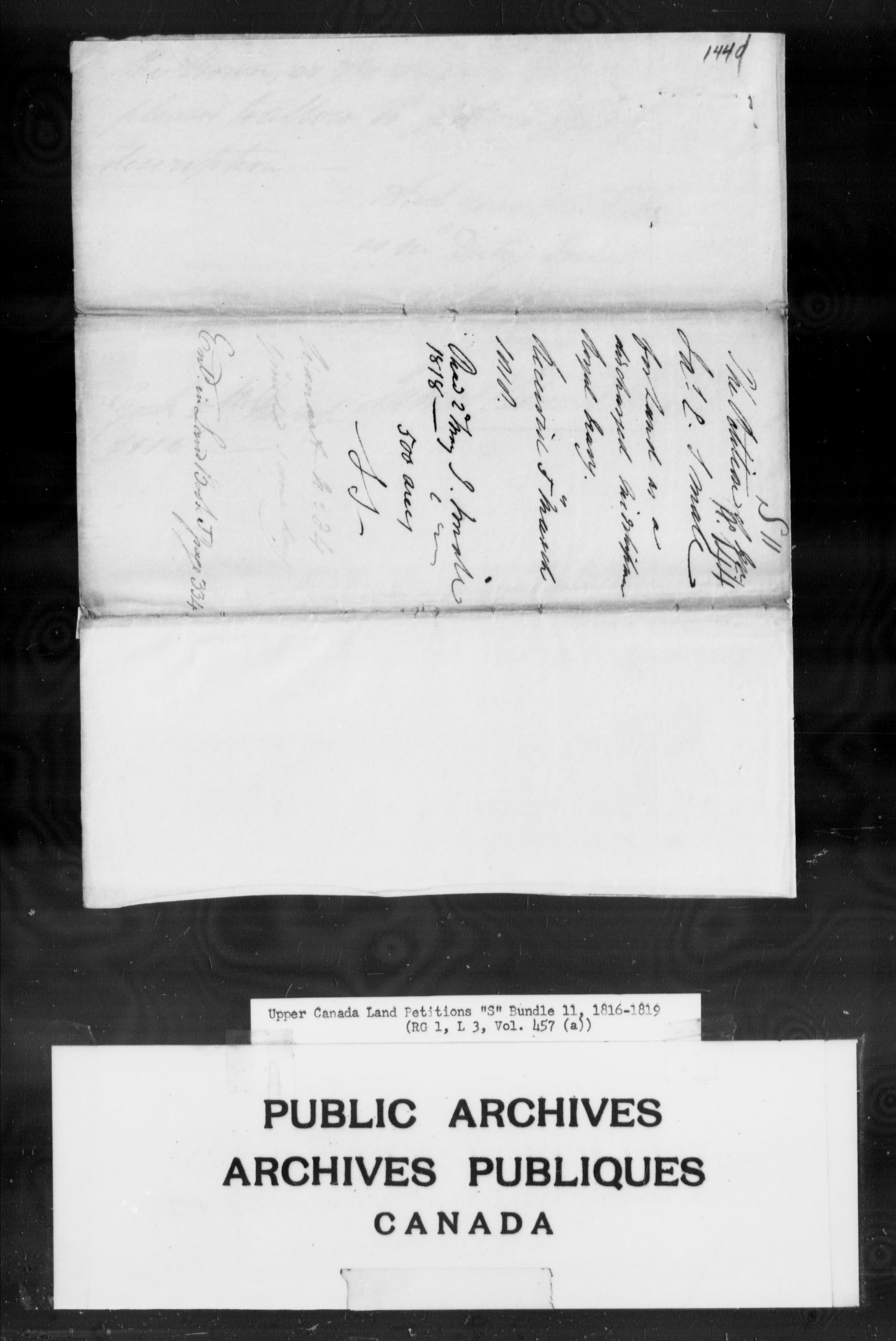 Title: Upper Canada Land Petitions (1763-1865) - Mikan Number: 205131 - Microform: c-2811