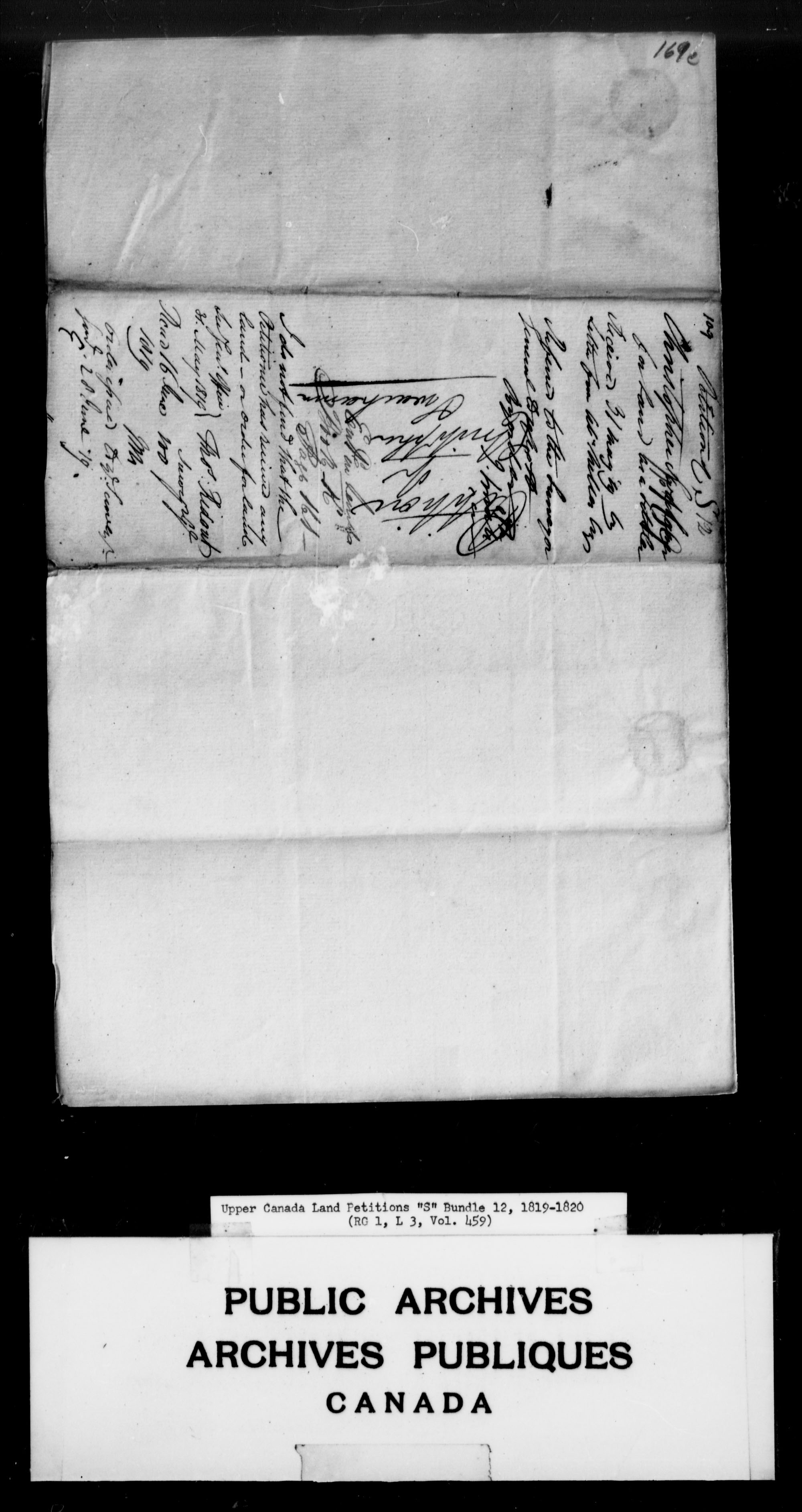 Title: Upper Canada Land Petitions (1763-1865) - Mikan Number: 205131 - Microform: c-2812