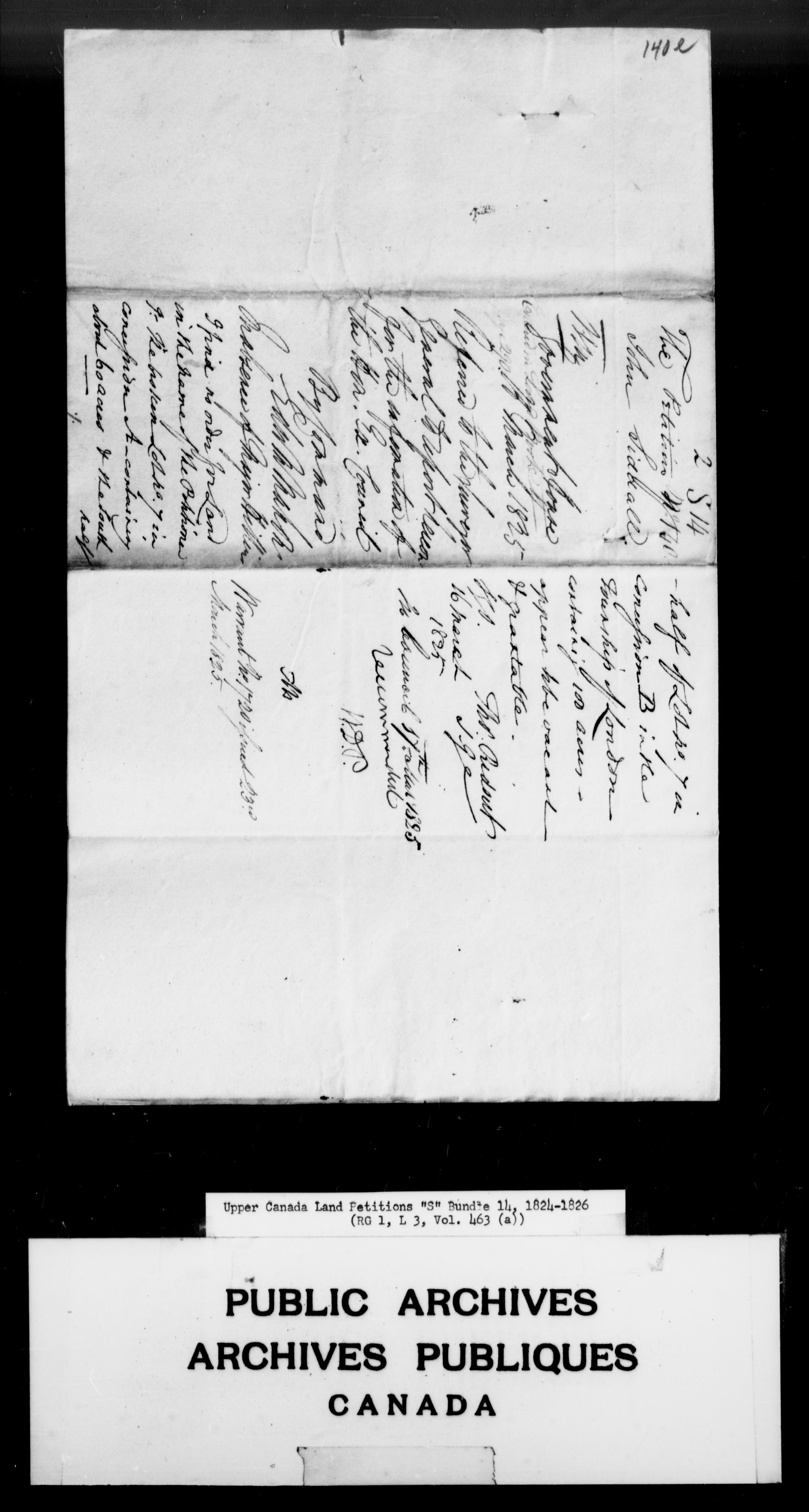 Title: Upper Canada Land Petitions (1763-1865) - Mikan Number: 205131 - Microform: c-2814