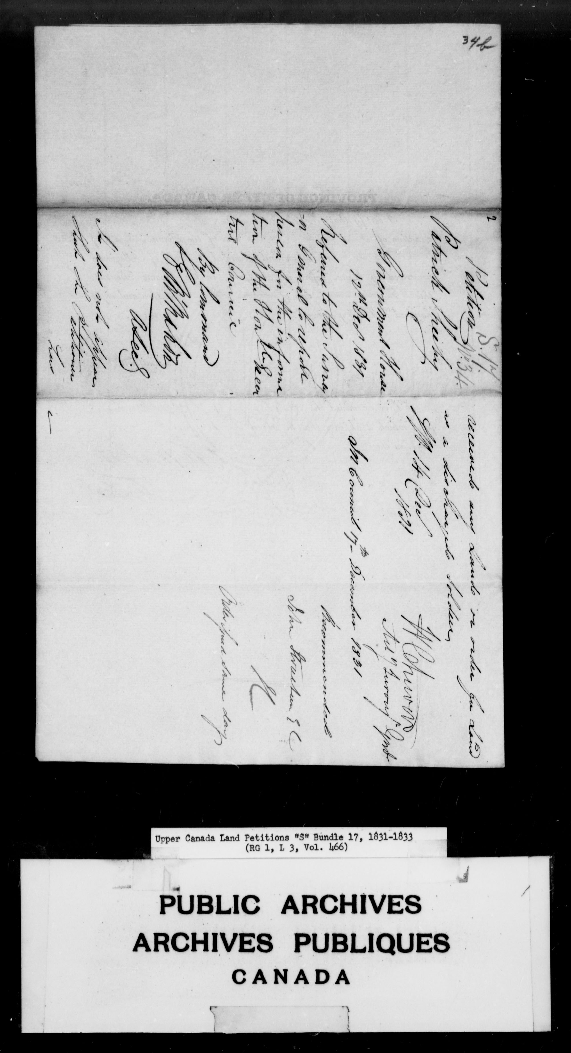 Title: Upper Canada Land Petitions (1763-1865) - Mikan Number: 205131 - Microform: c-2816