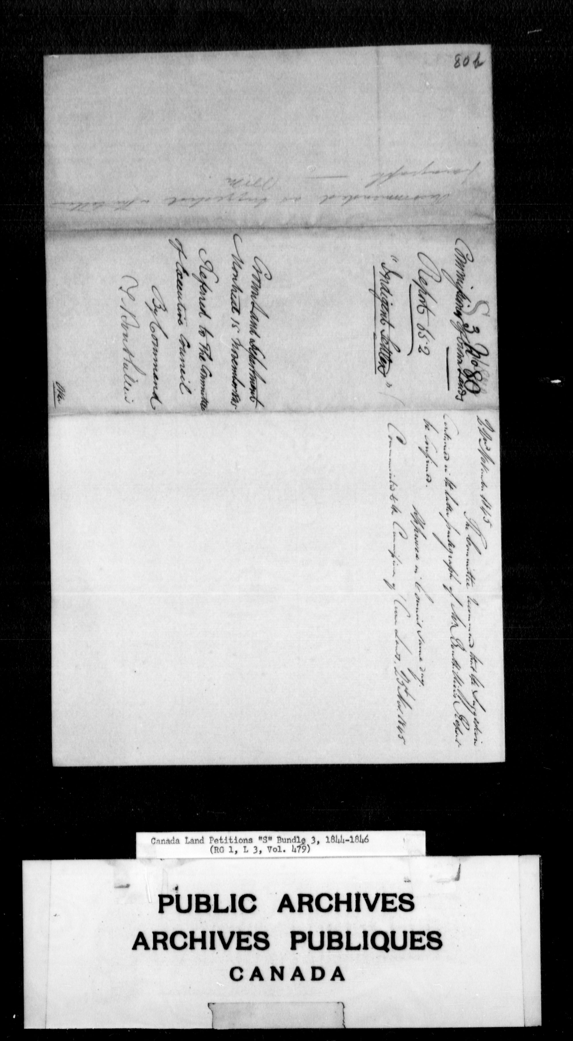 Title: Upper Canada Land Petitions (1763-1865) - Mikan Number: 205131 - Microform: c-2823