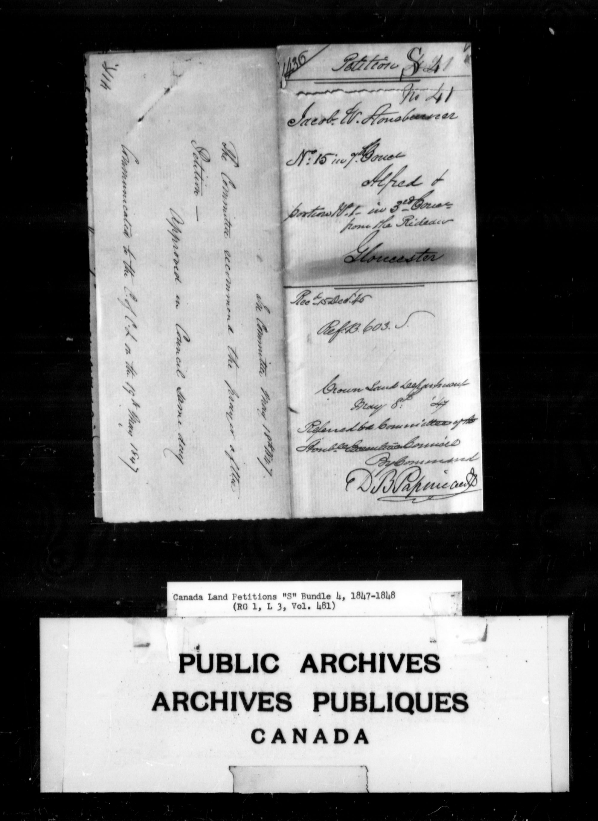 Title: Upper Canada Land Petitions (1763-1865) - Mikan Number: 205131 - Microform: c-2824