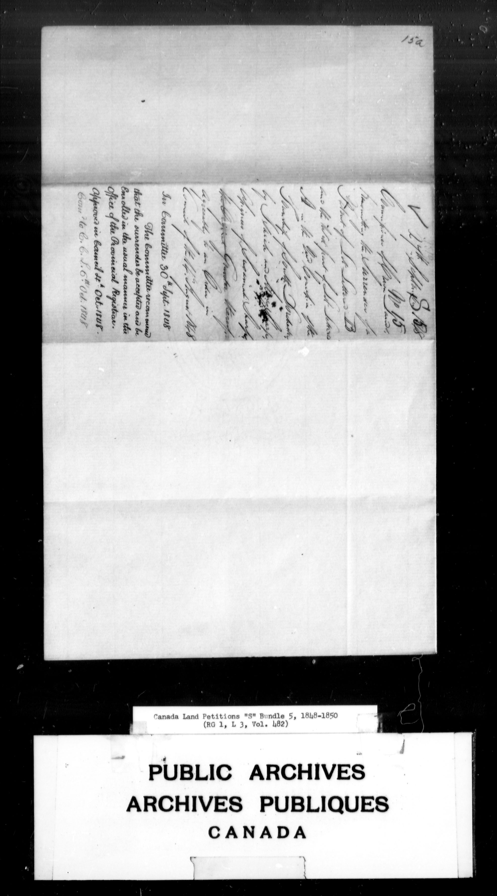 Title: Upper Canada Land Petitions (1763-1865) - Mikan Number: 205131 - Microform: c-2825