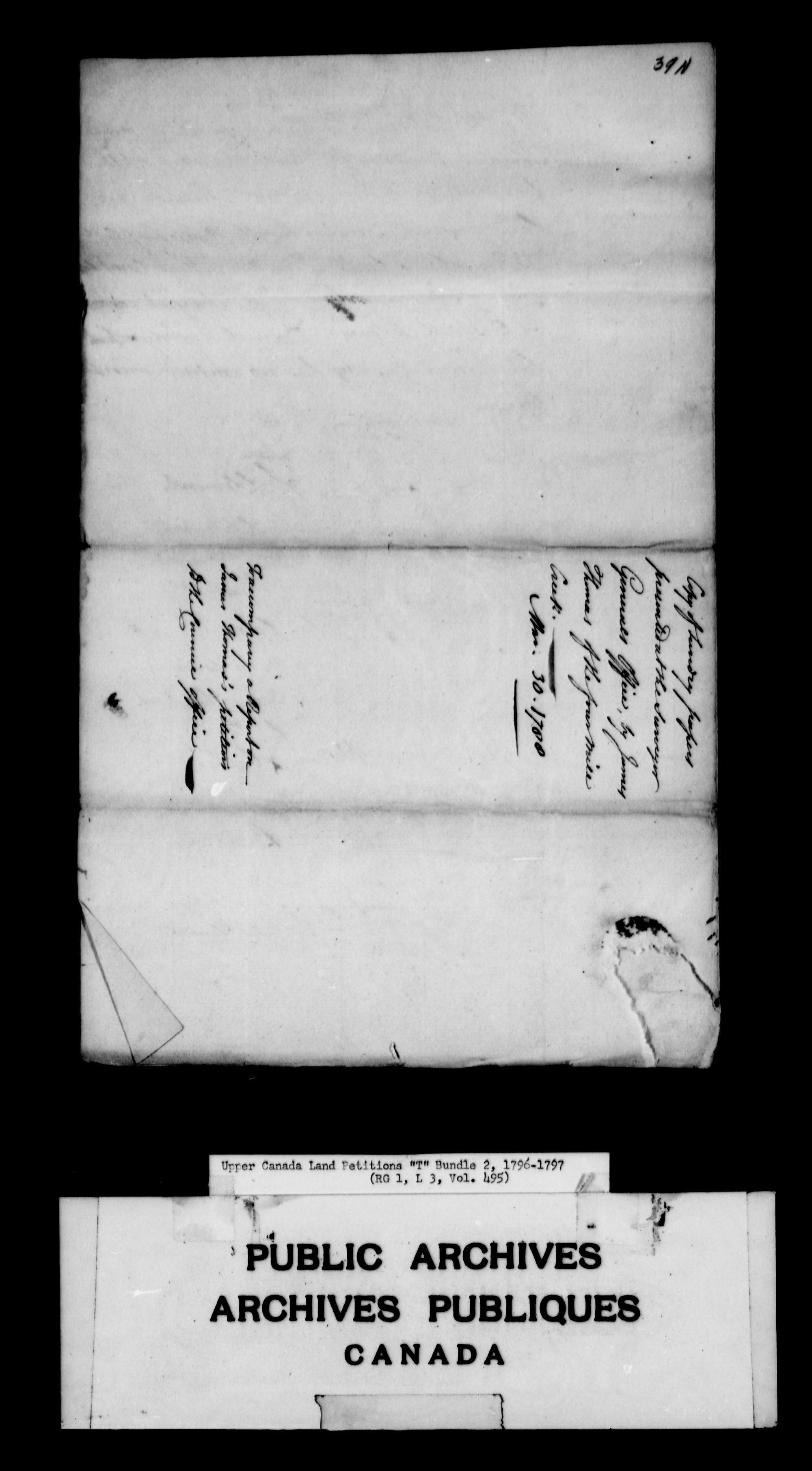 Title: Upper Canada Land Petitions (1763-1865) - Mikan Number: 205131 - Microform: c-2832