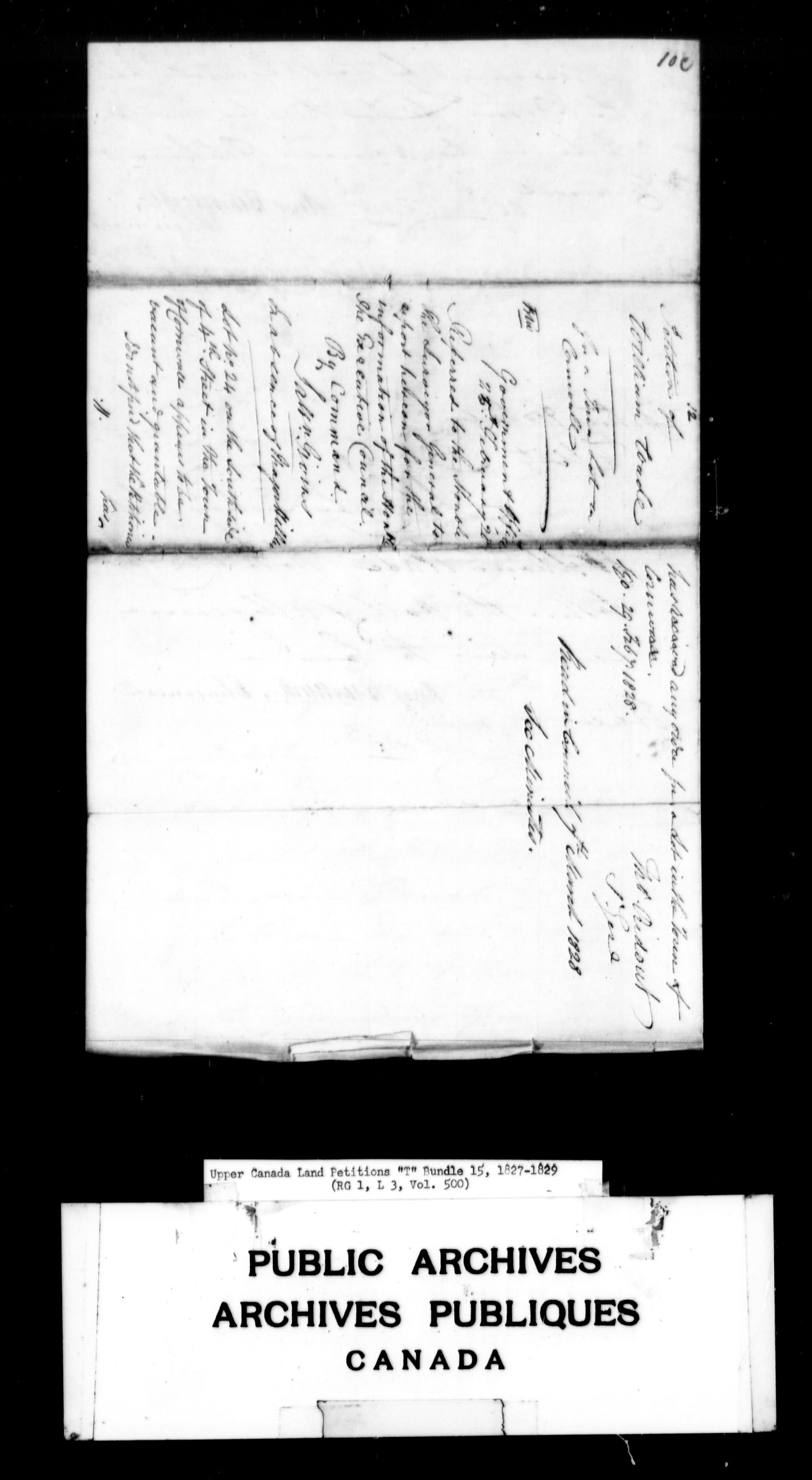 Title: Upper Canada Land Petitions (1763-1865) - Mikan Number: 205131 - Microform: c-2835
