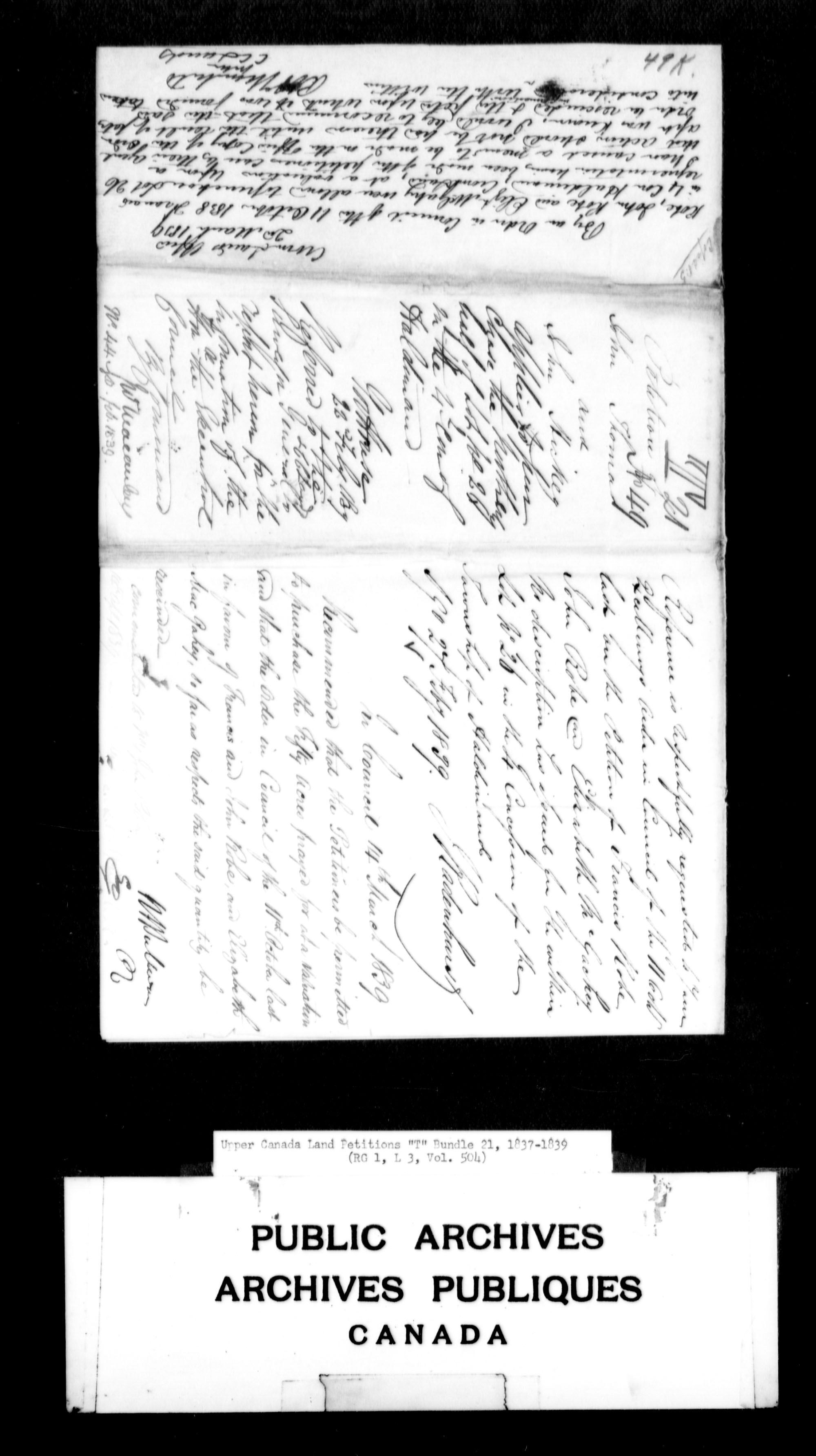 Title: Upper Canada Land Petitions (1763-1865) - Mikan Number: 205131 - Microform: c-2837