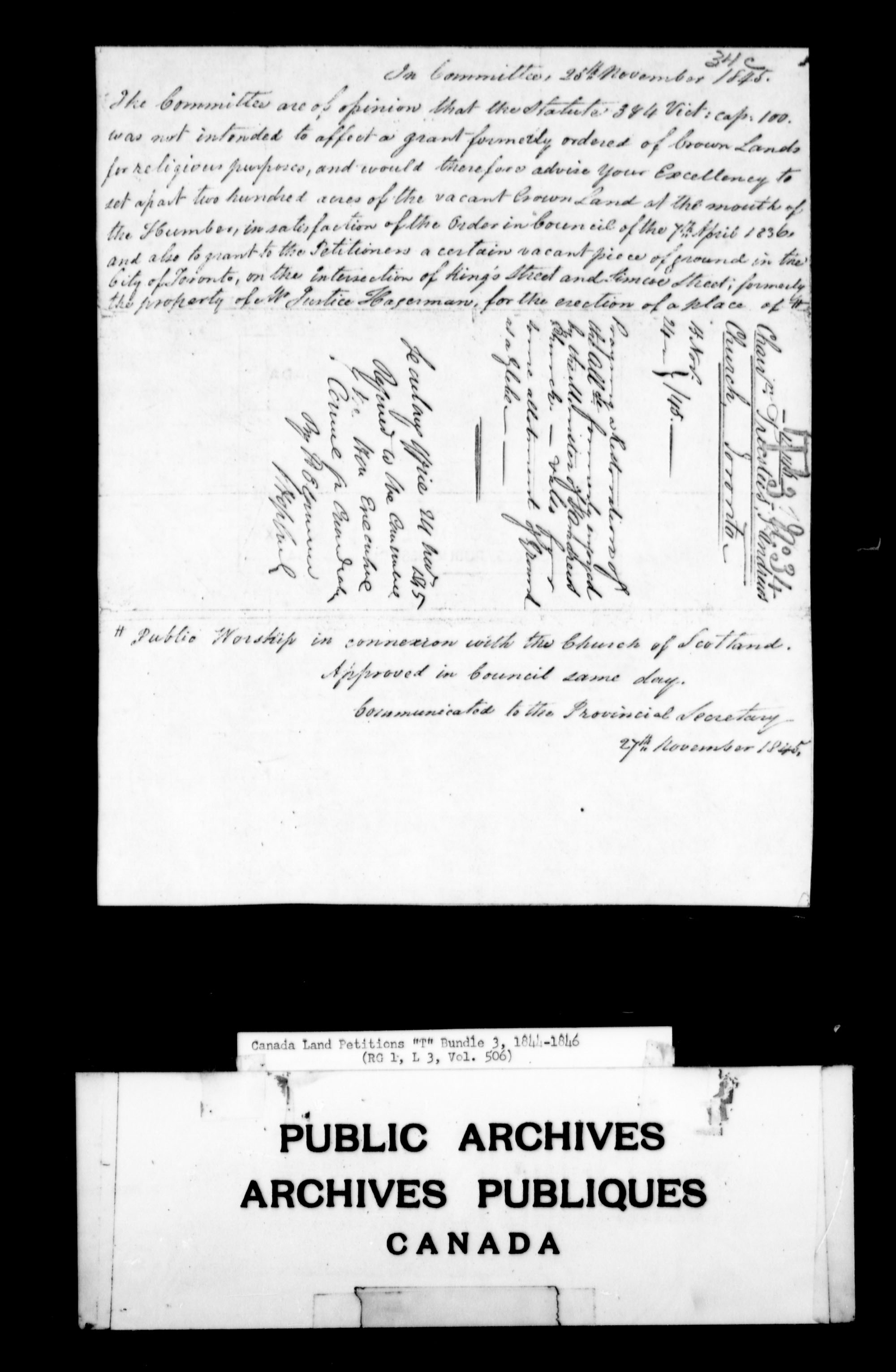 Title: Upper Canada Land Petitions (1763-1865) - Mikan Number: 205131 - Microform: c-2838