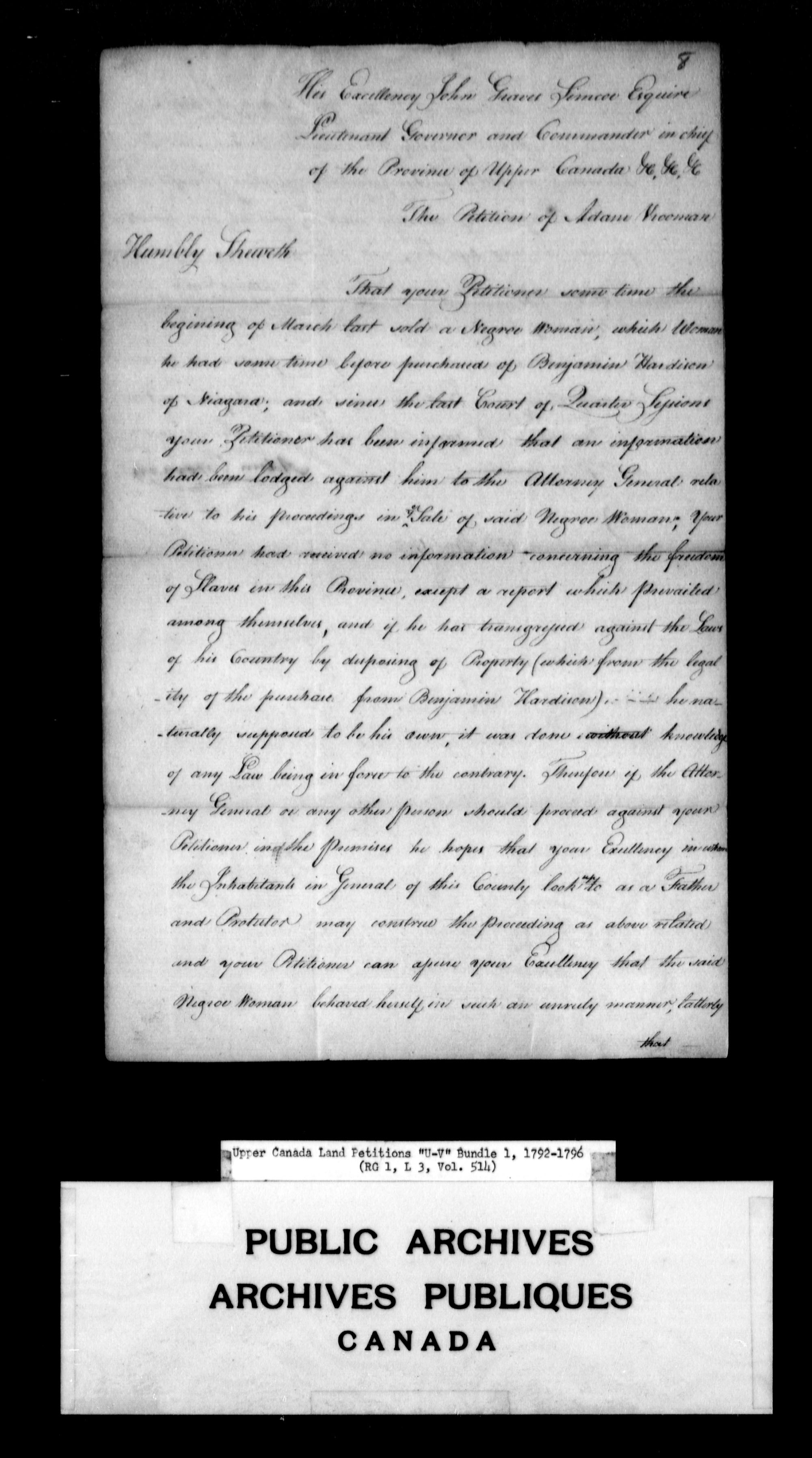 Title: Upper Canada Land Petitions (1763-1865) - Mikan Number: 205131 - Microform: c-2842