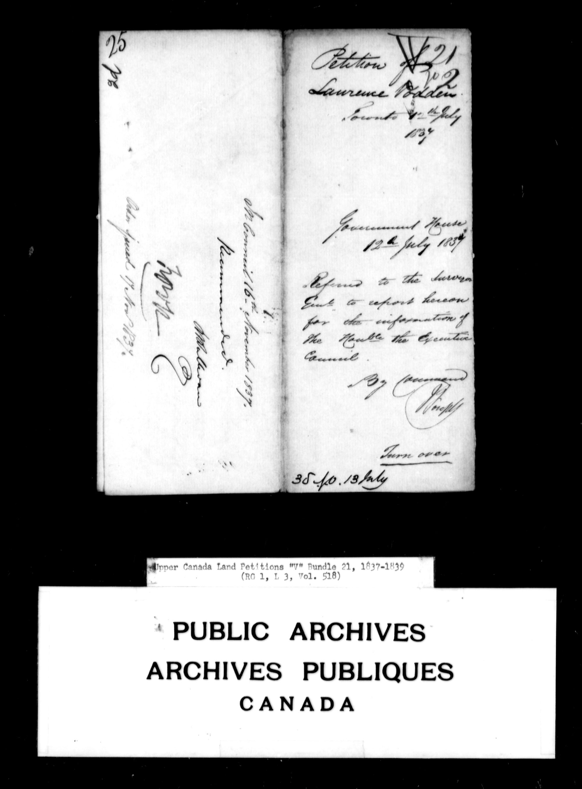 Title: Upper Canada Land Petitions (1763-1865) - Mikan Number: 205131 - Microform: c-2948