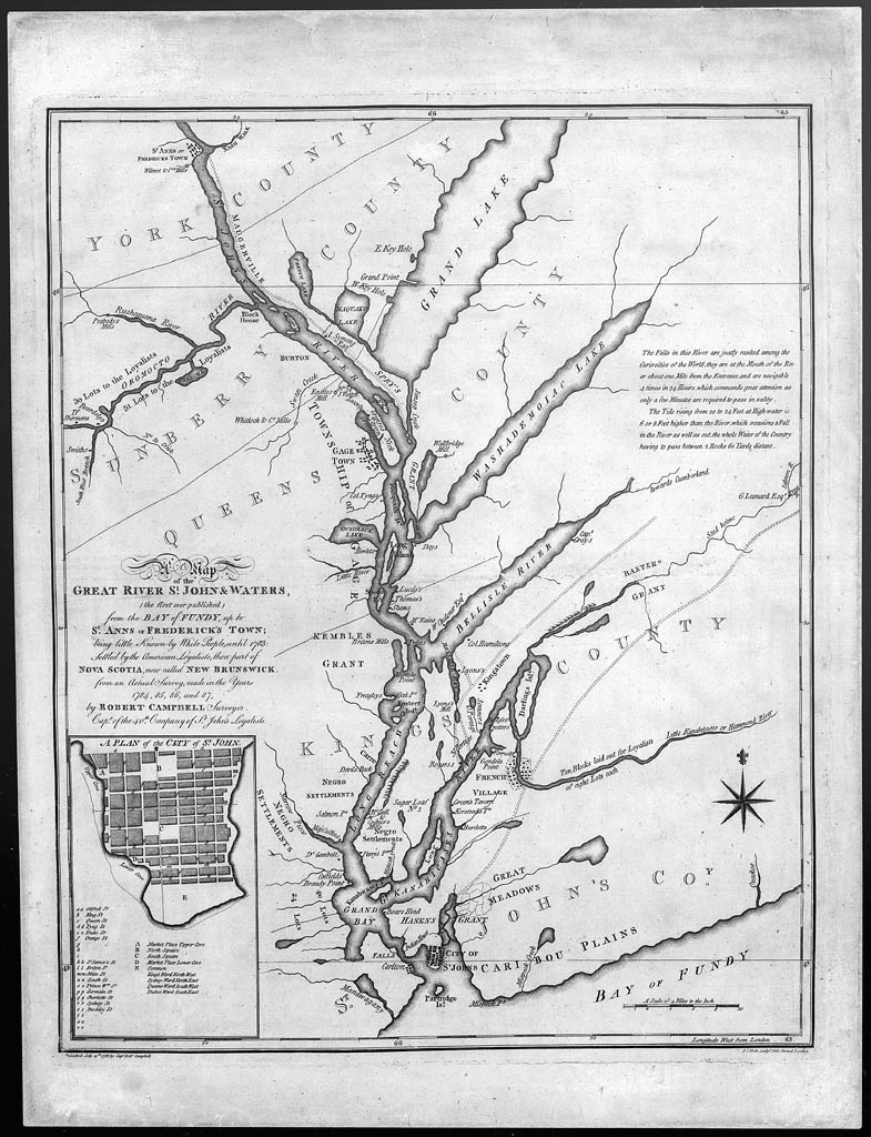 A Map of the Great River St. John and Waters